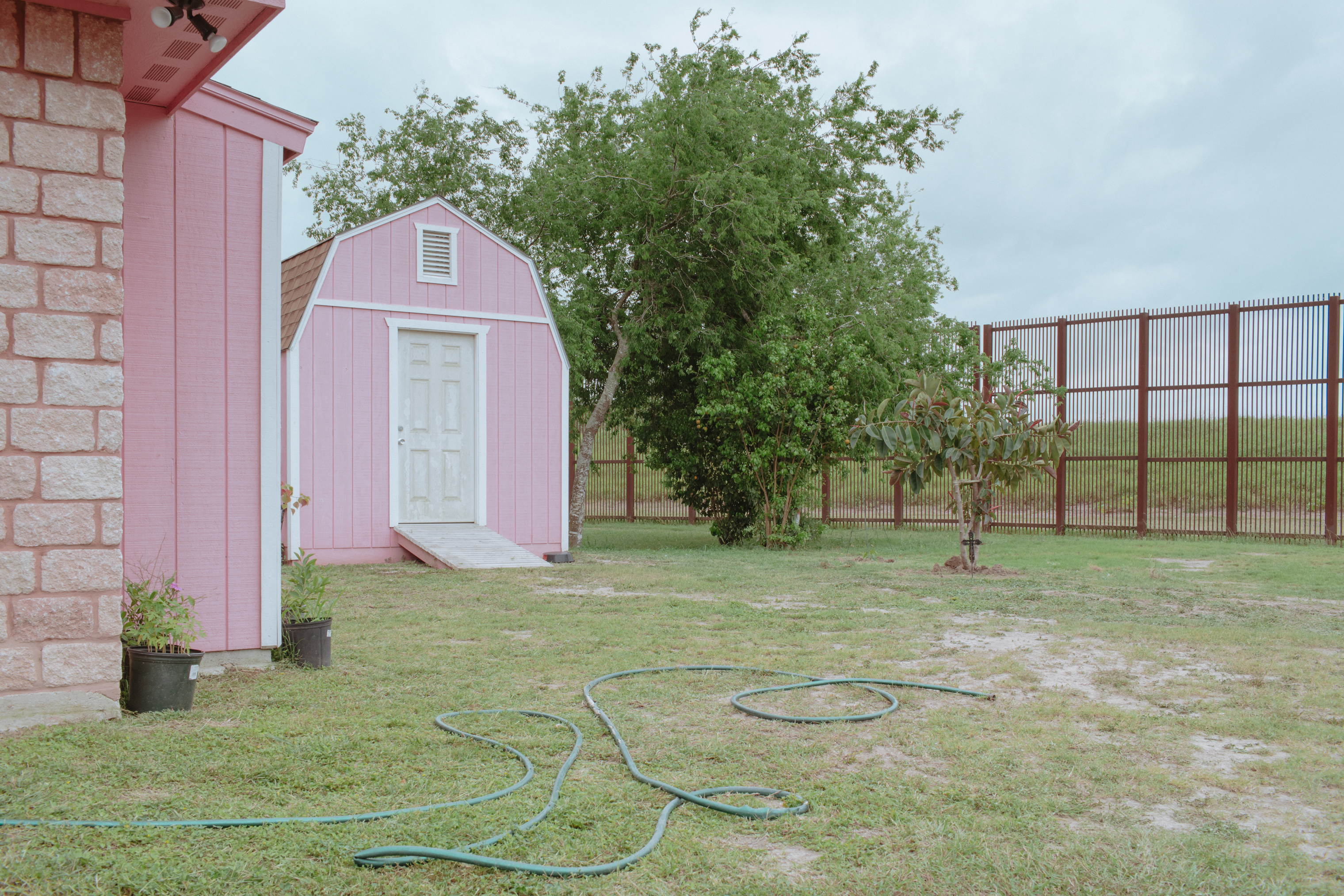 A backyard in Brownsville, Texas.
