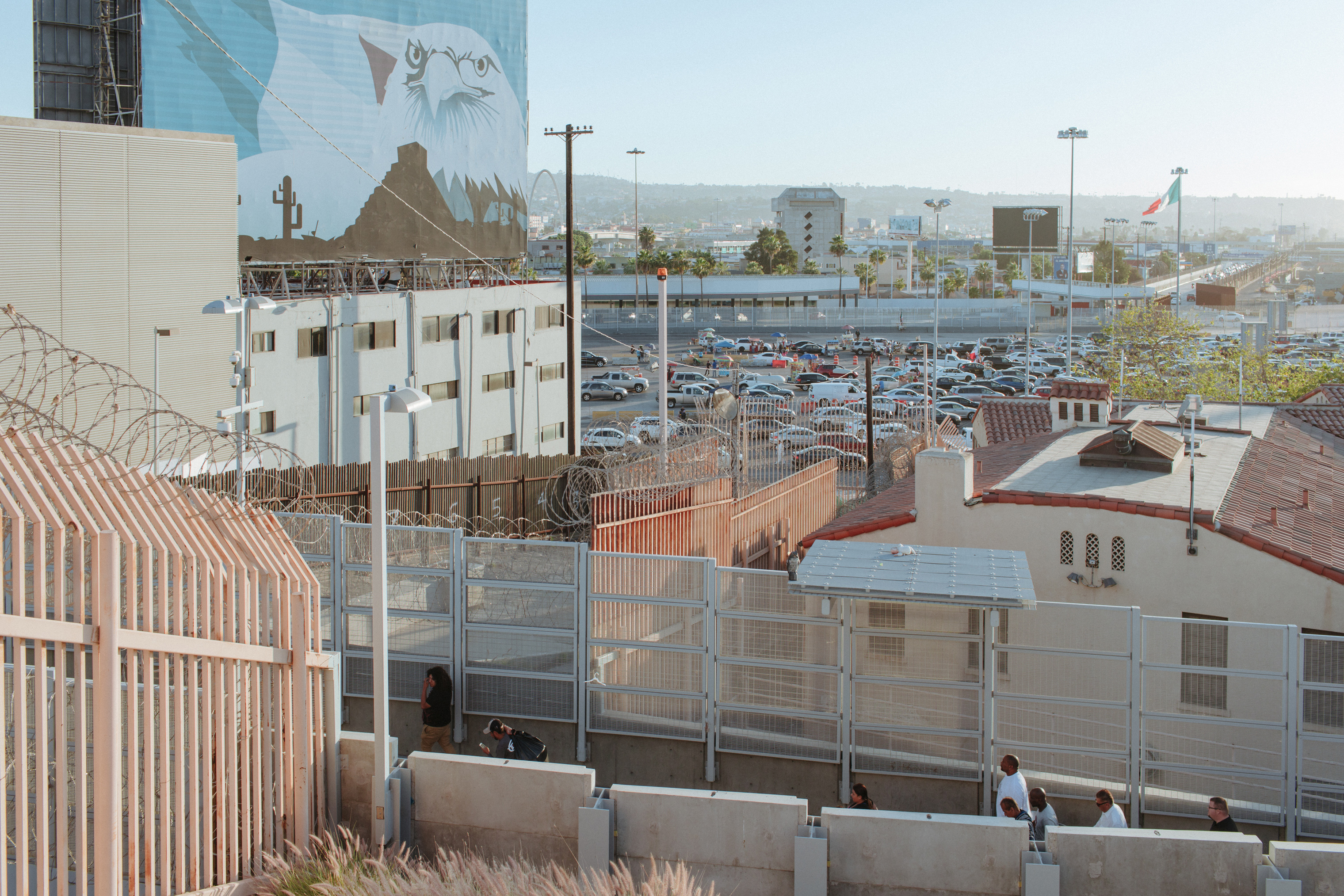 The San Ysidro Border is the largest crossing between San Diego and Tijuana. View from San Deigo, Calif.