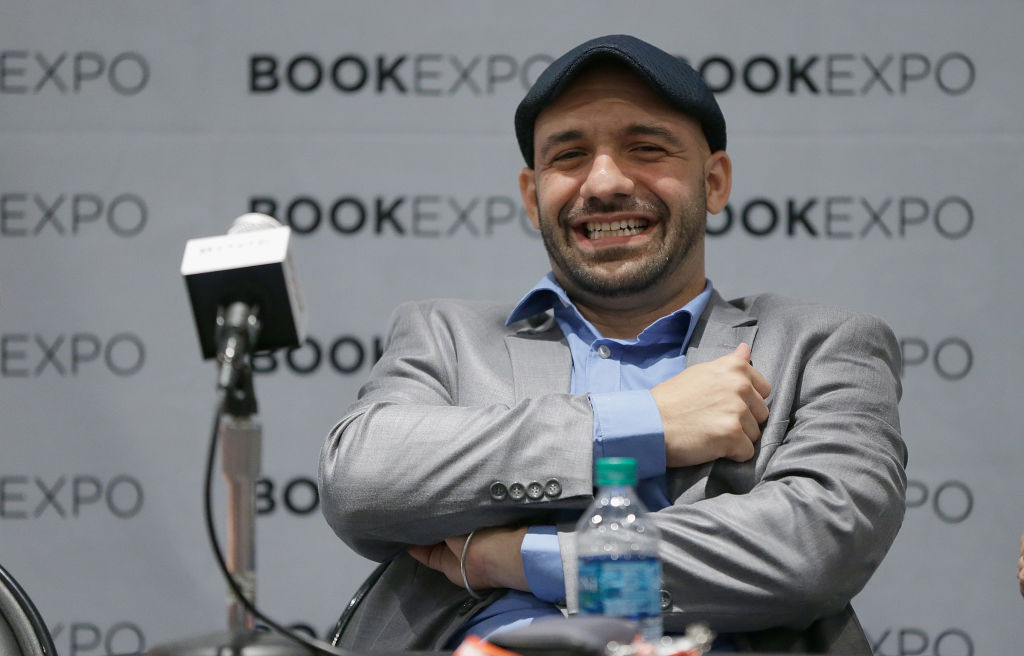 Author Daniel Jose Older speaks during the  Audio Publishers Association  panel at the BookExpo 2017 at Javits Center in New York City, on June 2, 2017.