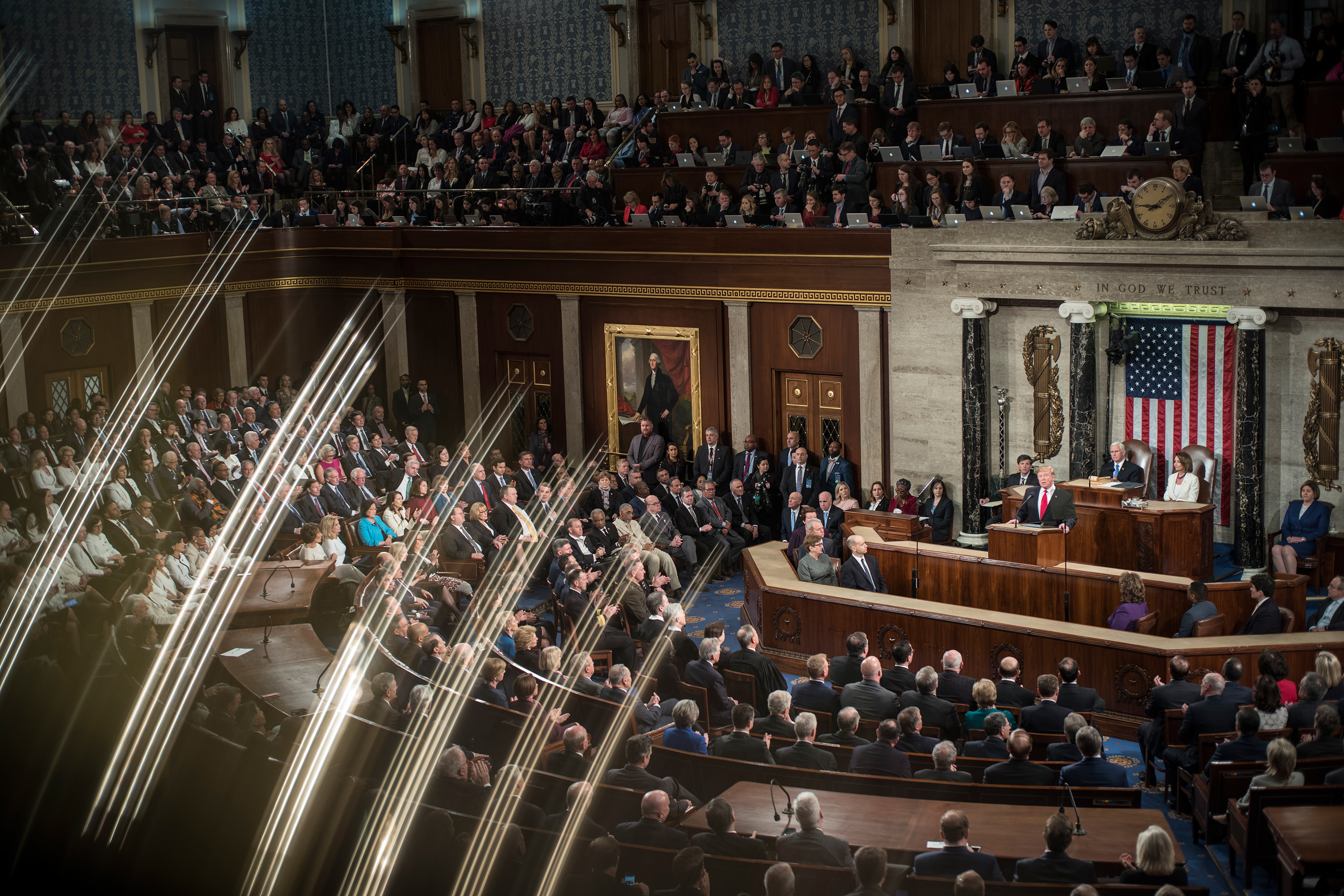 President Trump delivers his State of the Union remarks in Washington, D.C., on Feb. 5, 2019.