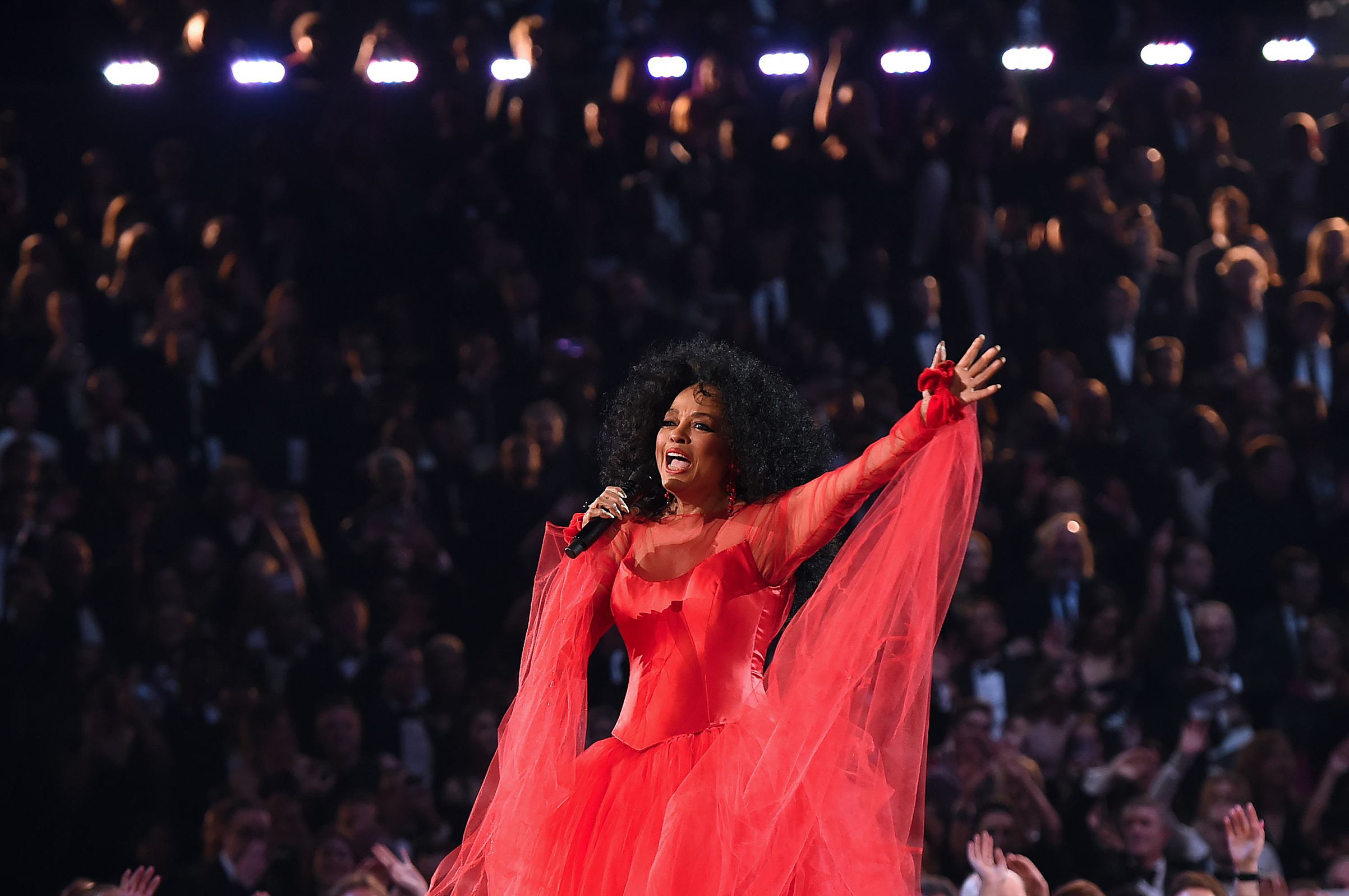 Diana Ross performs onstage during the 61st Annual Grammy Awards on Feb. 10, 2019, in Los Angeles.