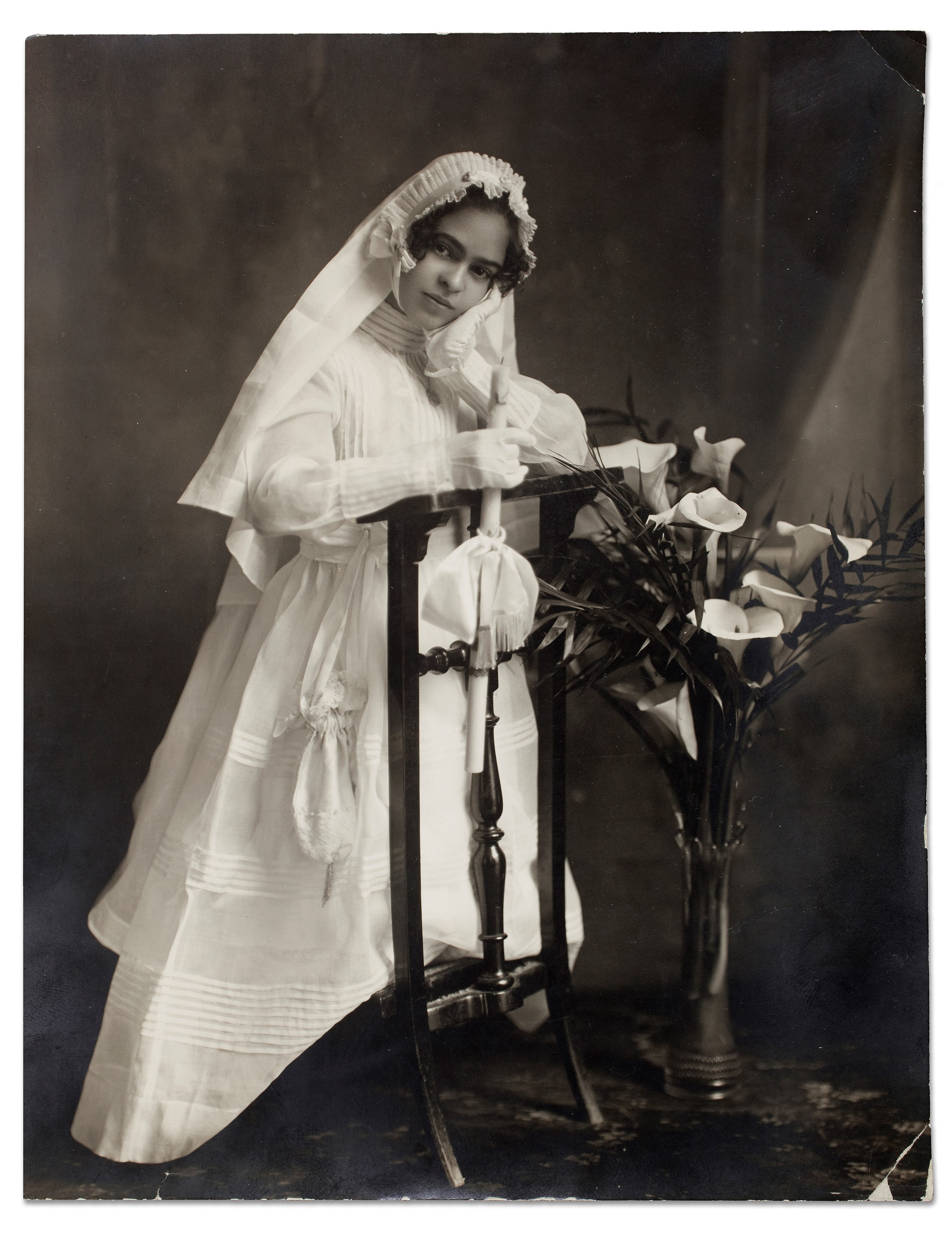 Frida when she received her First Communion.