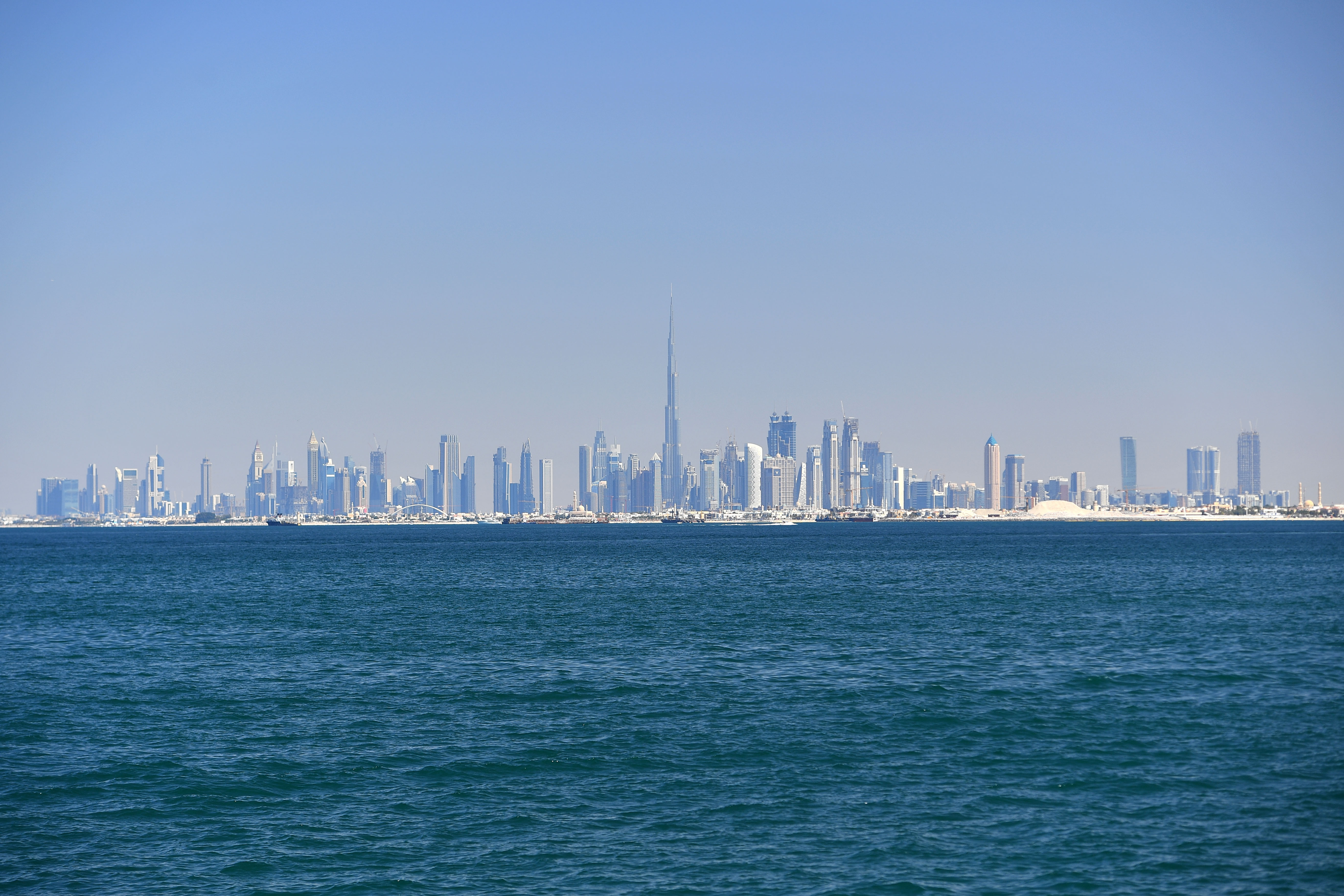 The skyline of Dubai.