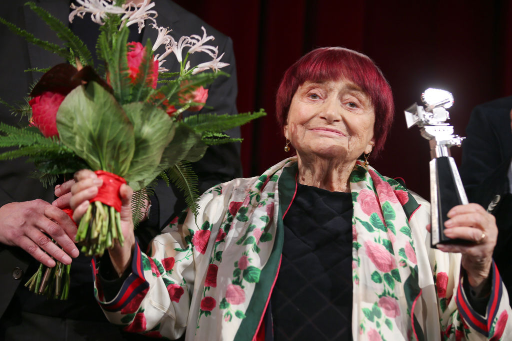Director Agnès Varda on stage at the Berlinale Camera award ceremony during the 69th Berlinale International Film Festival Berlin on February 13, 2019.