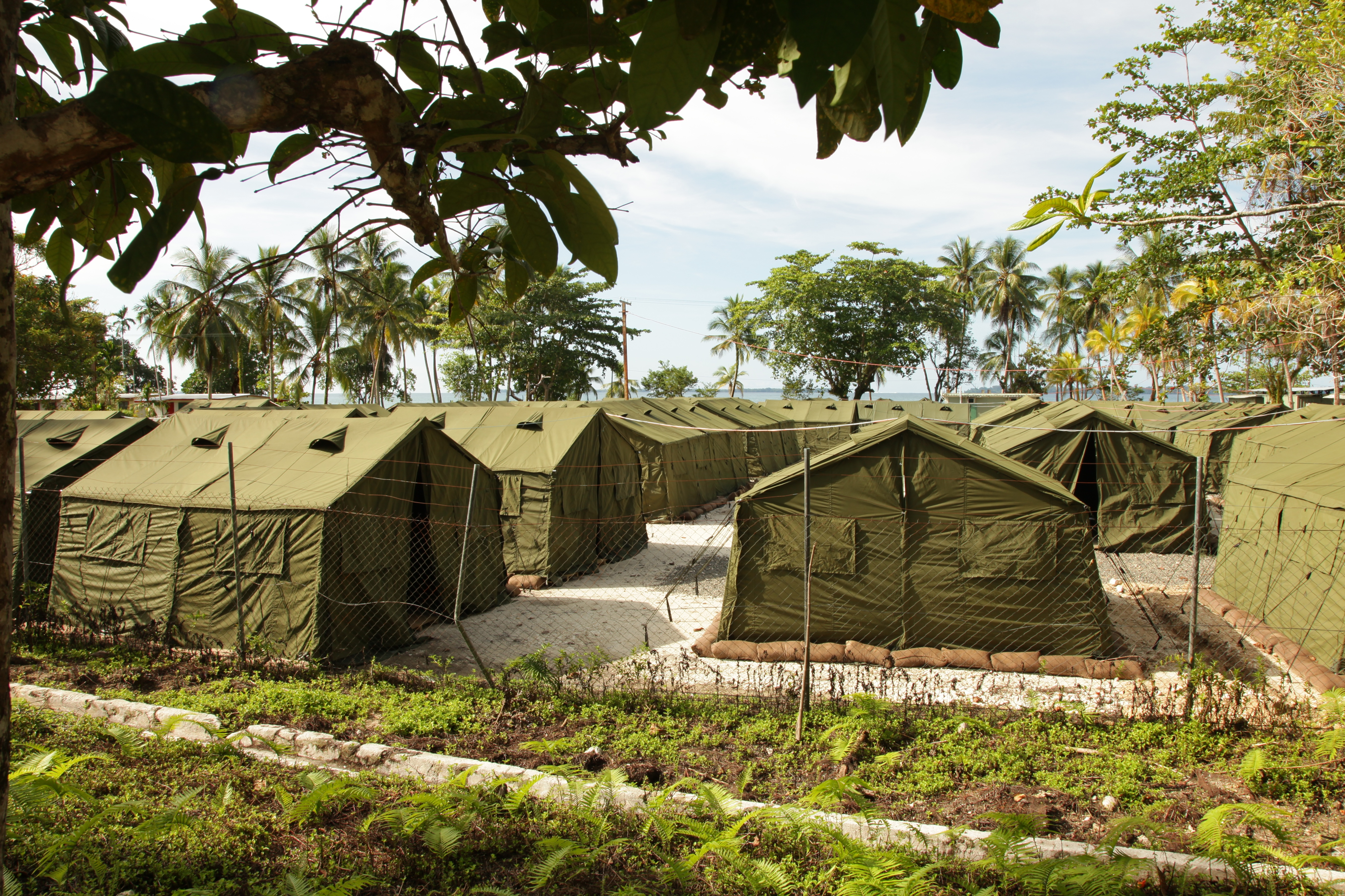 The Manus Island Regional Processing Facility, used to detain asylum seekers captured on Australia-bound boats, is seen on Oct. 16, 2012 on Manus Island, Papua New Guinea.