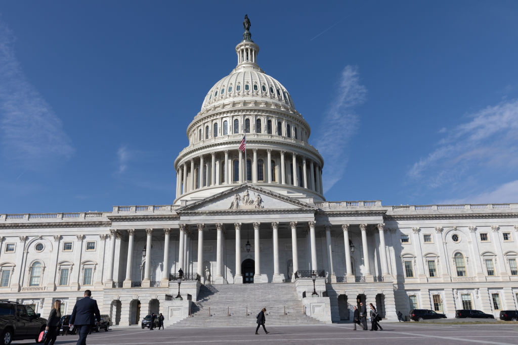 US Capitol Building in Washington, D.C.  on Feb. 27, 2019. 2 gun control legislations have been passes through the House of Representatives in the past week. One to require background checks and the second to allow a 10 day review period of the background checks.