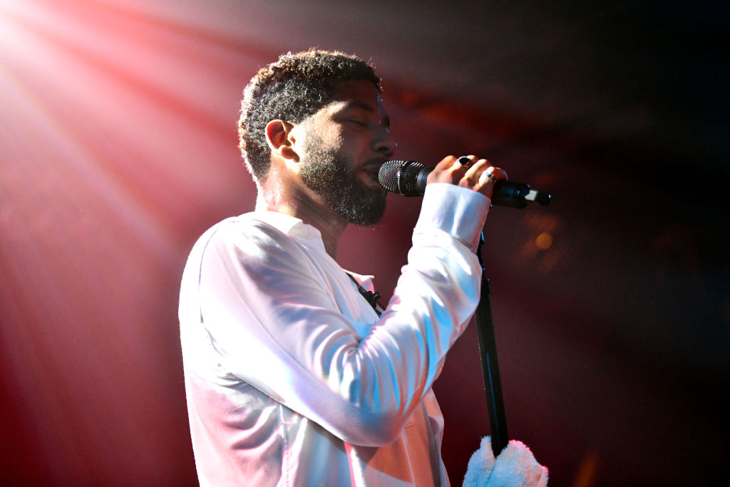 Jussie Smollett performs onstage at Troubadour on Feb. 02, 2019 in West Hollywood, California.
