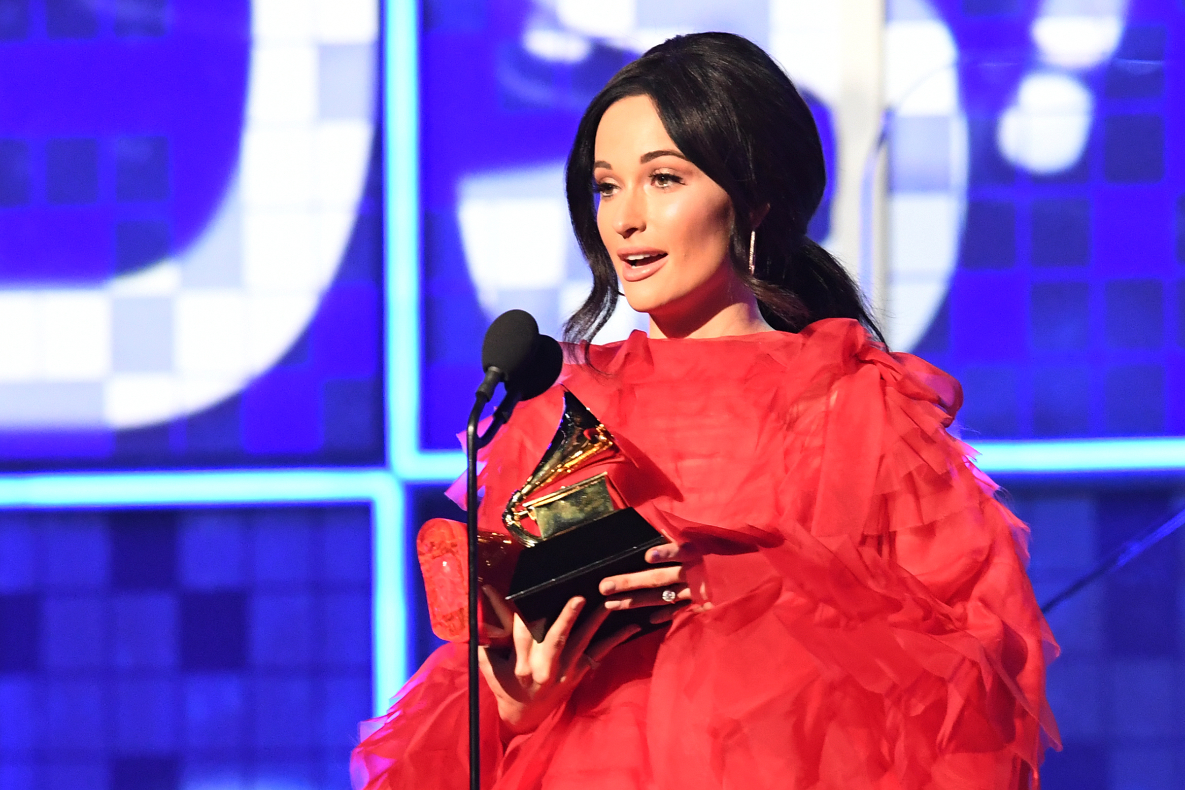 Kacey Musgraves accepts the award for Album Of The Year for  Golden Hour  onstage during the 61st Annual Grammy Awards on Feb. 10, 2019, in Los Angeles.