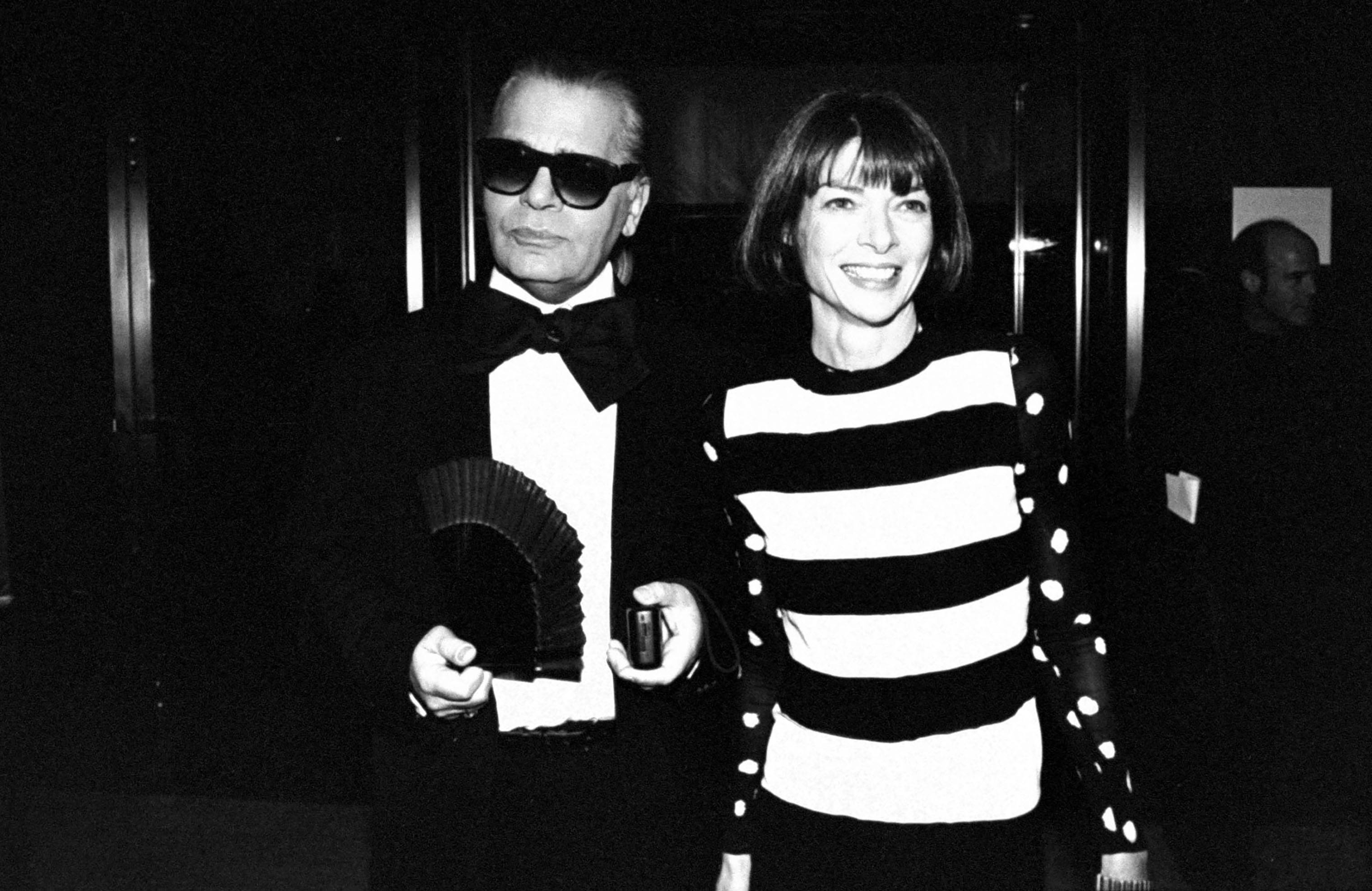 Fashion designer Karl Lagerfeld and Anna Wintour circa 1993.
