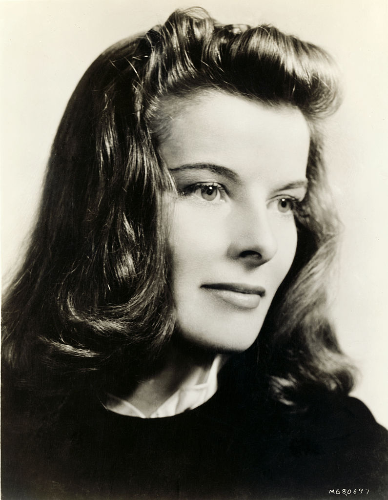 Undated headshot of Katharine Hepburn.