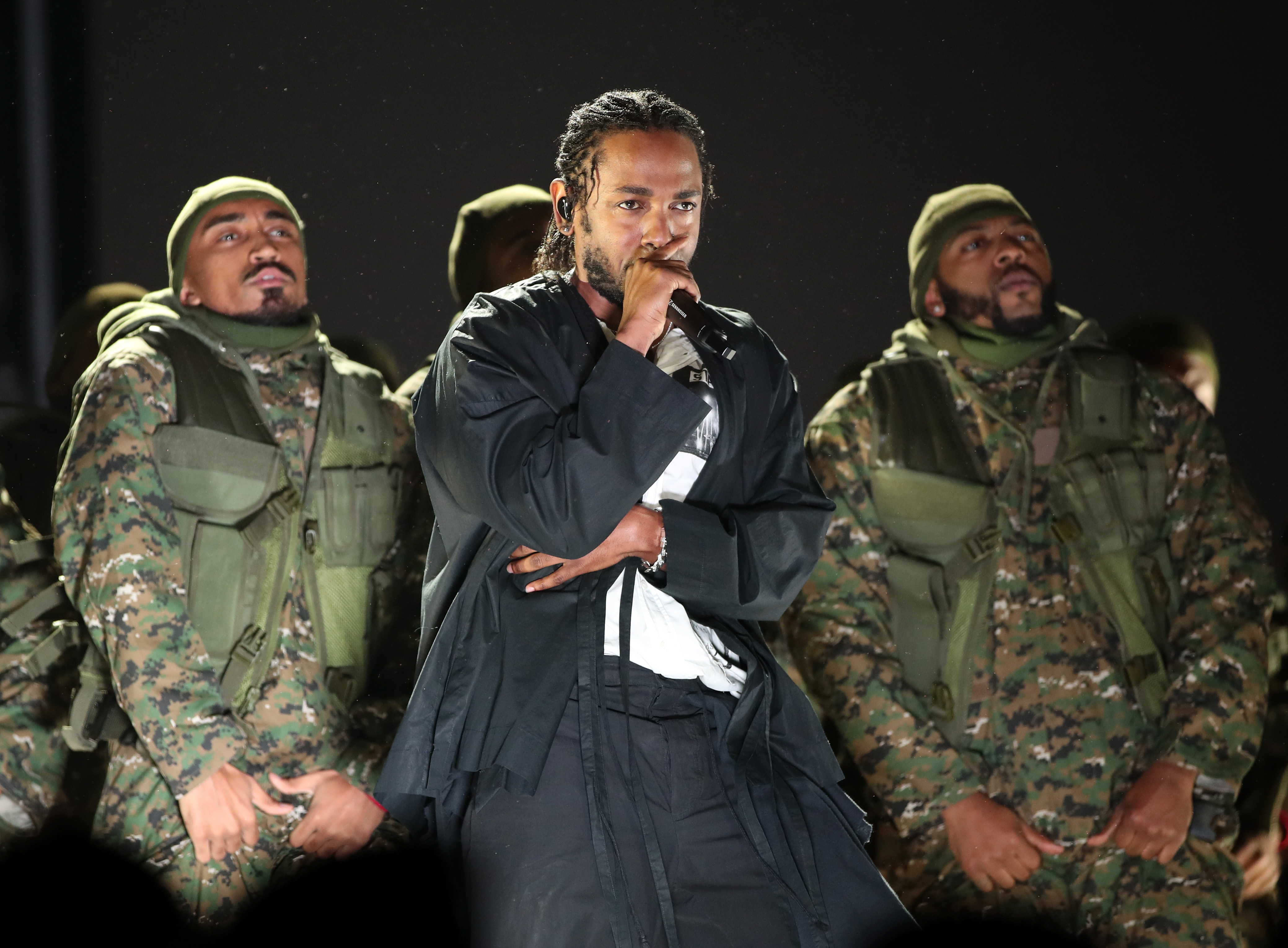 Recording artist Kendrick Lamar performs onstage during the 60th Annual GRAMMY Awards at Madison Square Garden on January 28, 2018 in New York City.