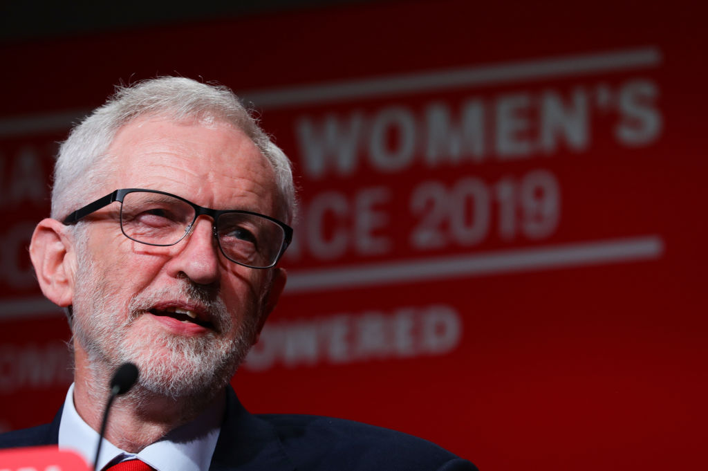Labour Leader Jeremy Corbyn during a speech at Labour Women's Conference in the Telford International Centre.