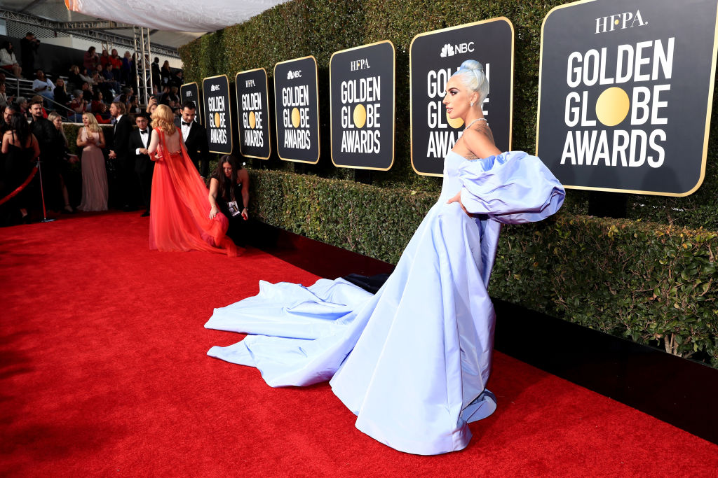 Lady Gaga arrives to the 76th Annual Golden Globe Awards held at the Beverly Hilton Hotel on January 6, 2019.