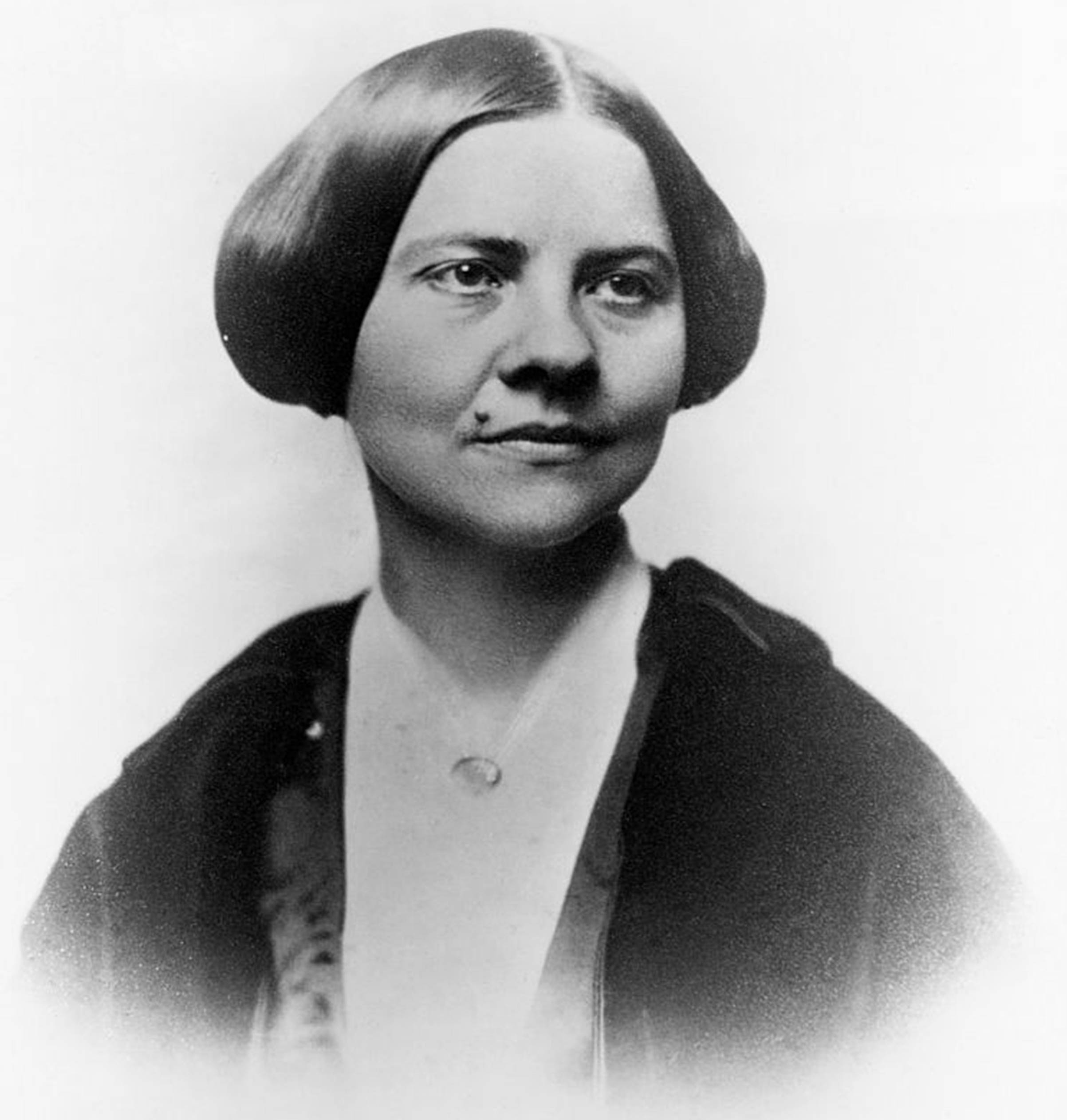 An undated photo of abolitionist and women's rights activist Lucy Stone