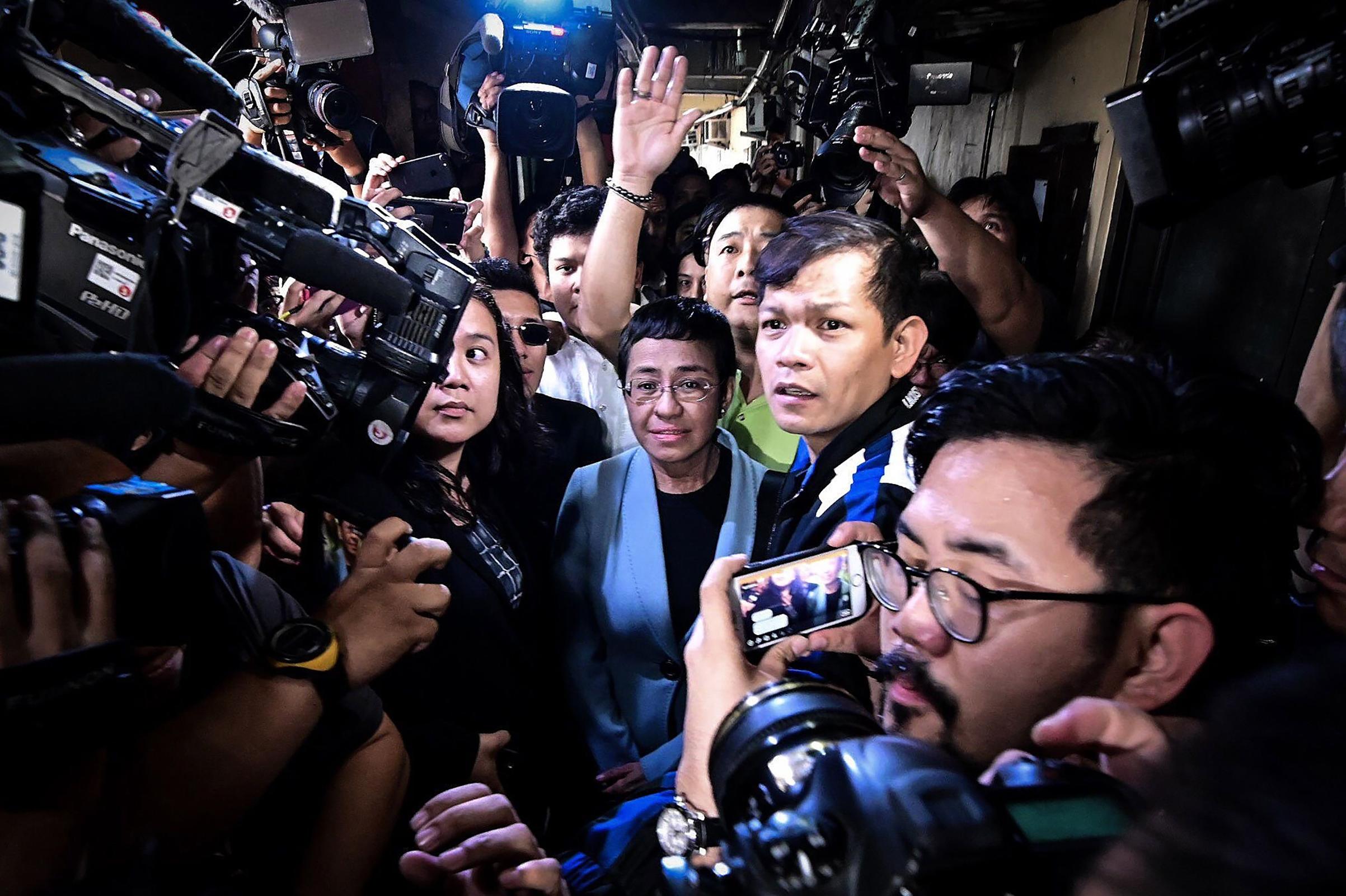 Ressa on Feb.14 at a Manila court
