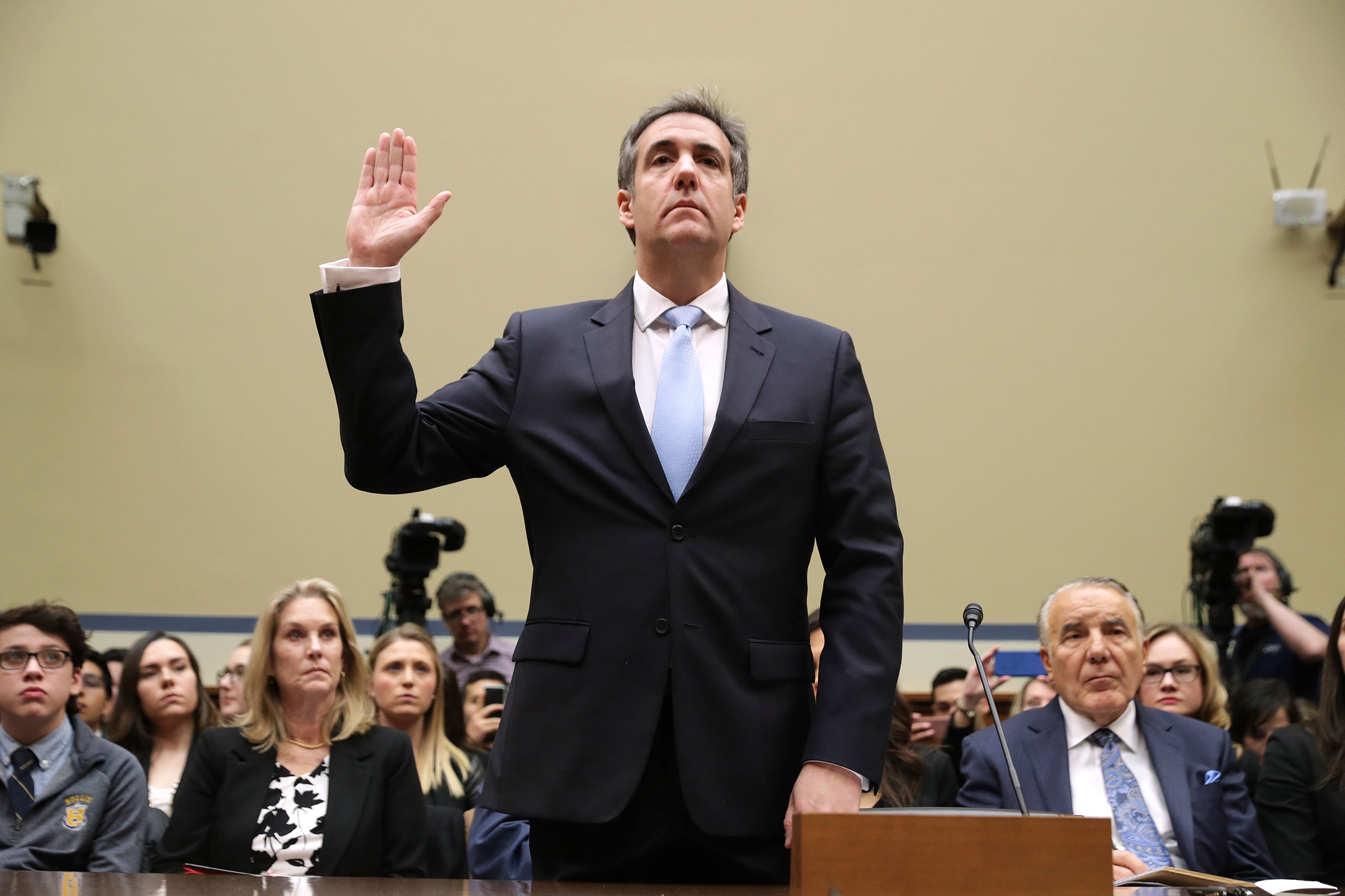 The President's ex-lawyer, Michael Cohen, testifies Feb. 27 before House investigators