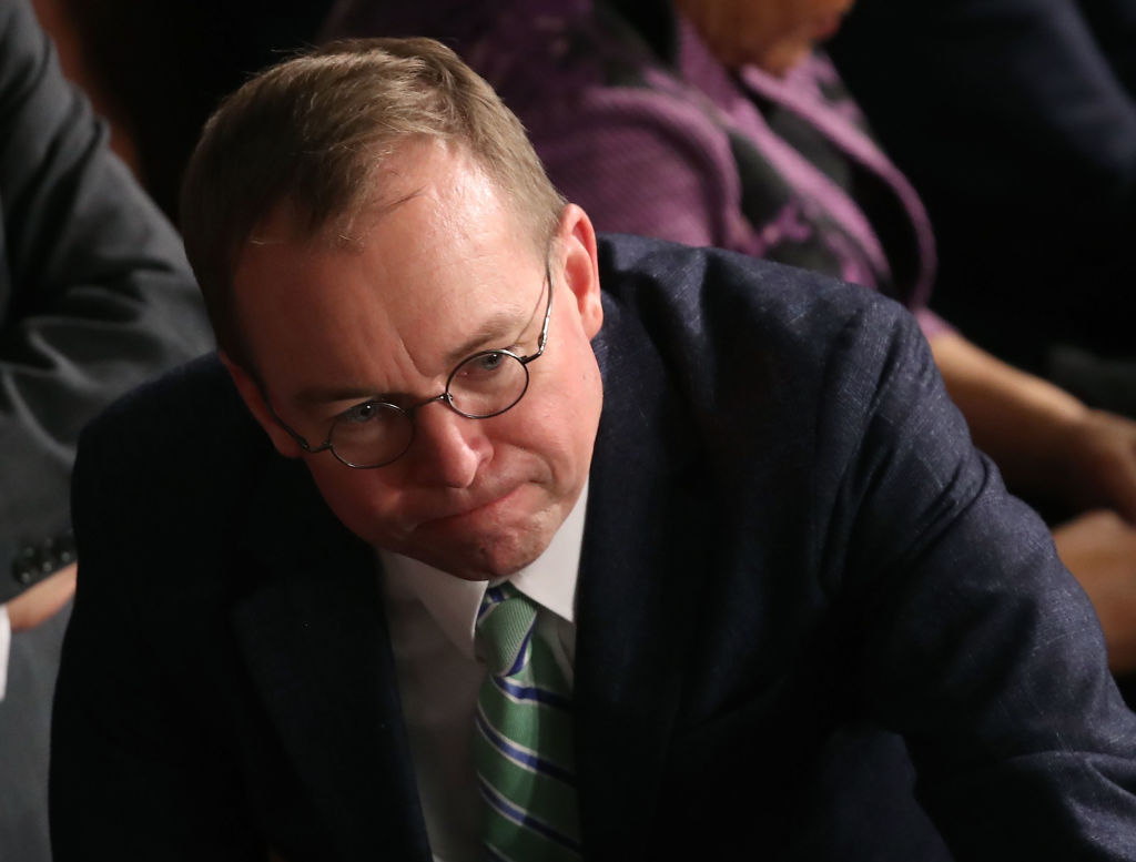 White House Chief of Staff Mick Mulvaney attends the first session of the 116th Congress at the U.S. Capitol Jan. 3, 2019 in Washington, DC.