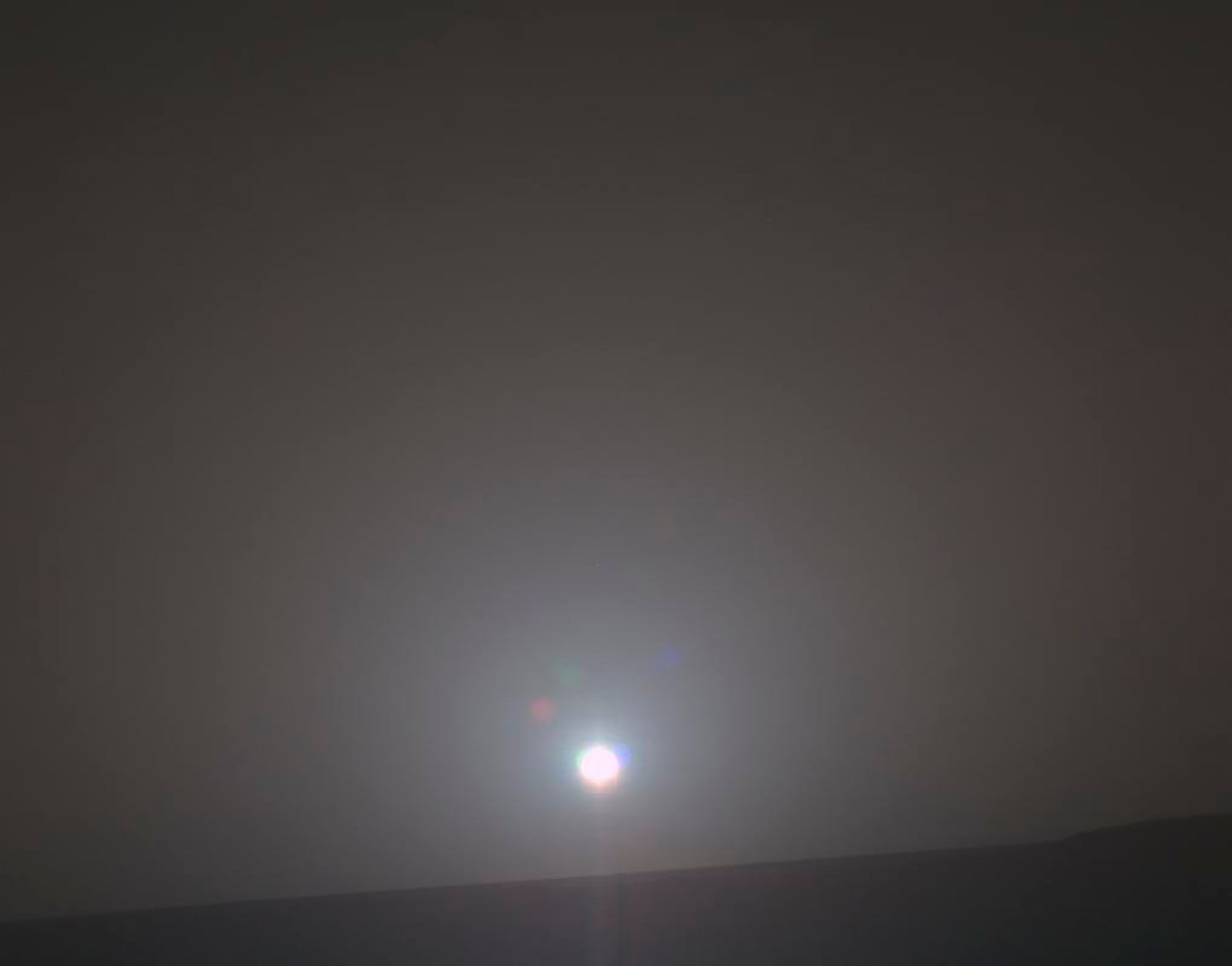 The sun rises on Mars on Feb. 15, 2018.