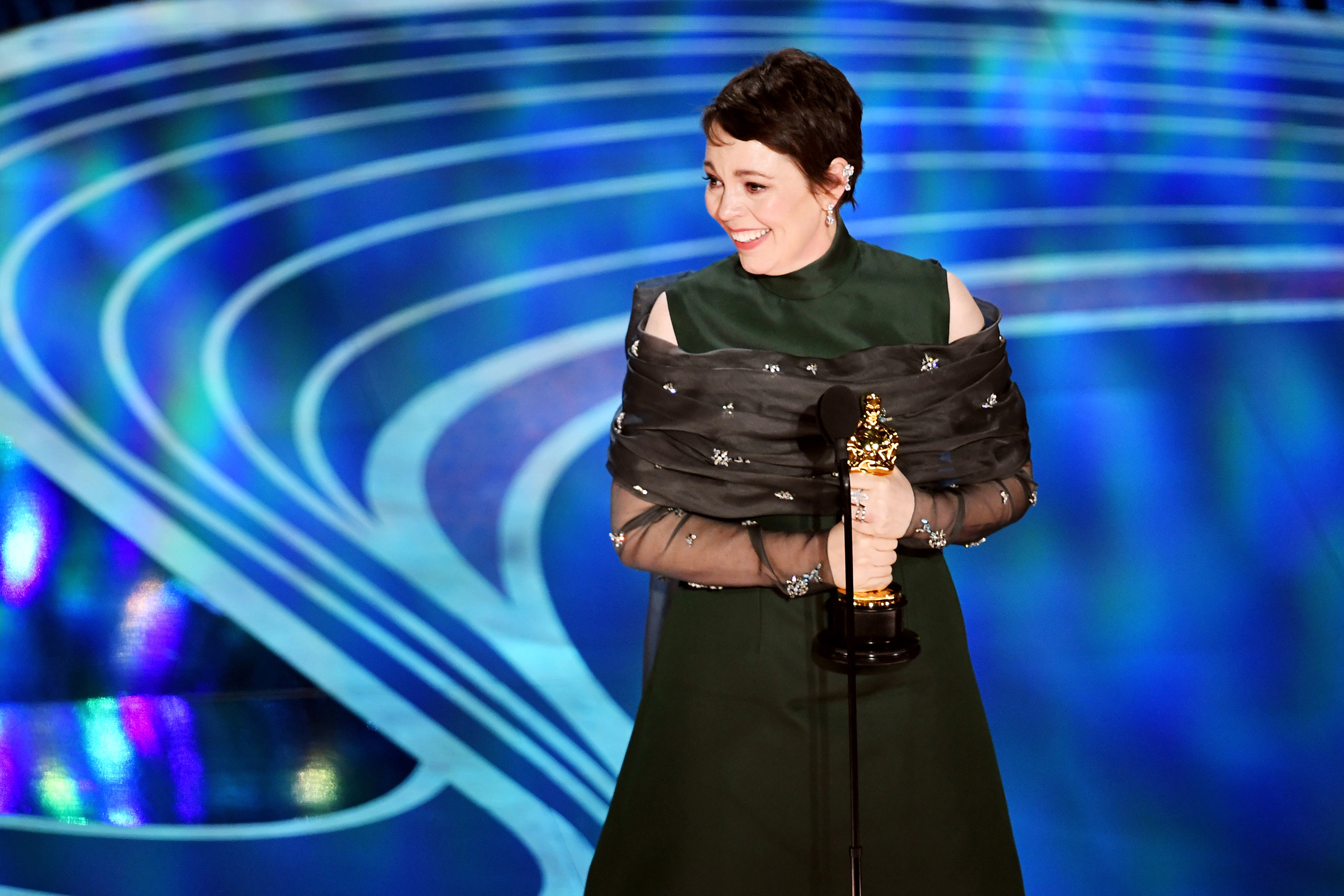Olivia Colman accepts the Actress in a Leading Role award for 'The Favourite' onstage during the 91st Annual Academy Awards at Dolby Theatre on Feb. 24, 2019.
