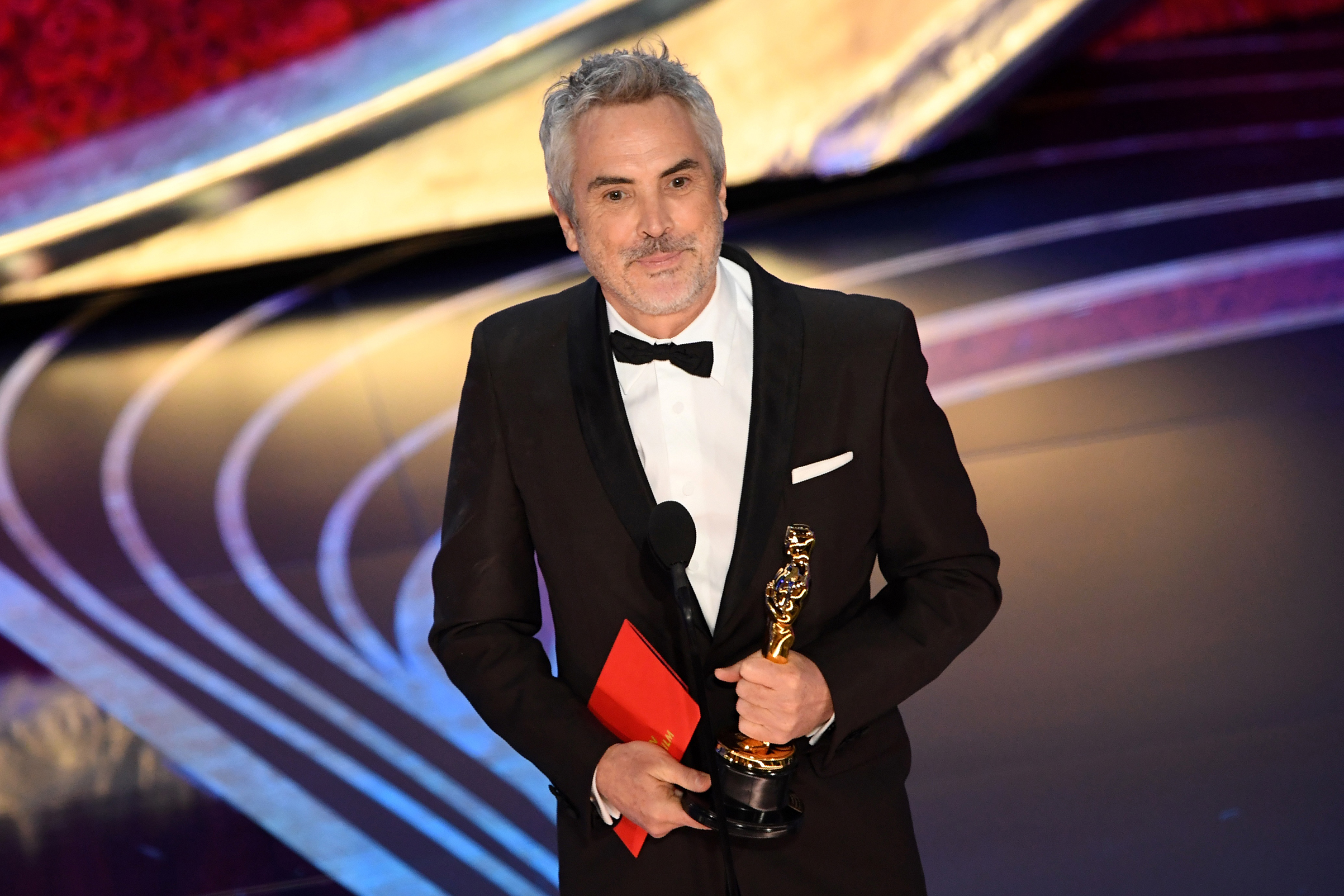 Best Foreign Language Film nominee for  Roma  Mexican director Alfonso Cuaron accepts the award for Best Foreign Language Film during the 91st Annual Academy Awards at the Dolby Theatre in Hollywood on Feb. 24, 2019.