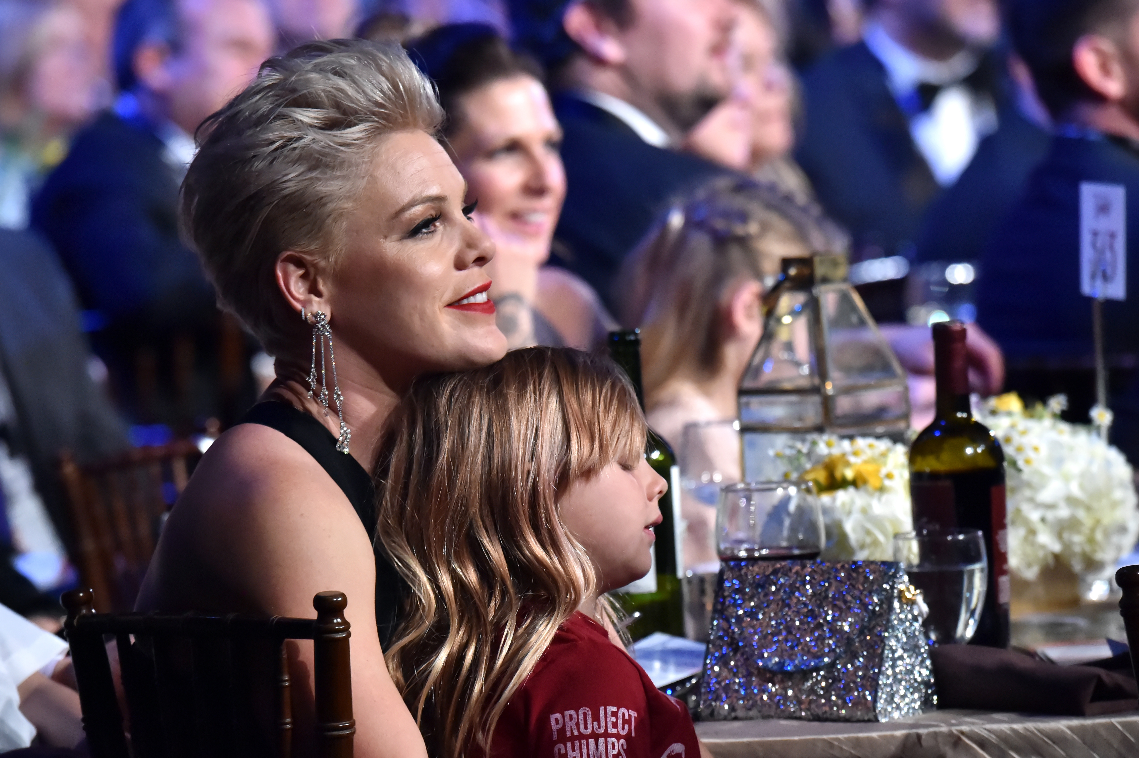 P!nk (L) and Willow Sage Hart attend MusiCares Person of the Year honoring Dolly Parton at Los Angeles Convention Center on February 8, 2019 in Los Angeles, California.
