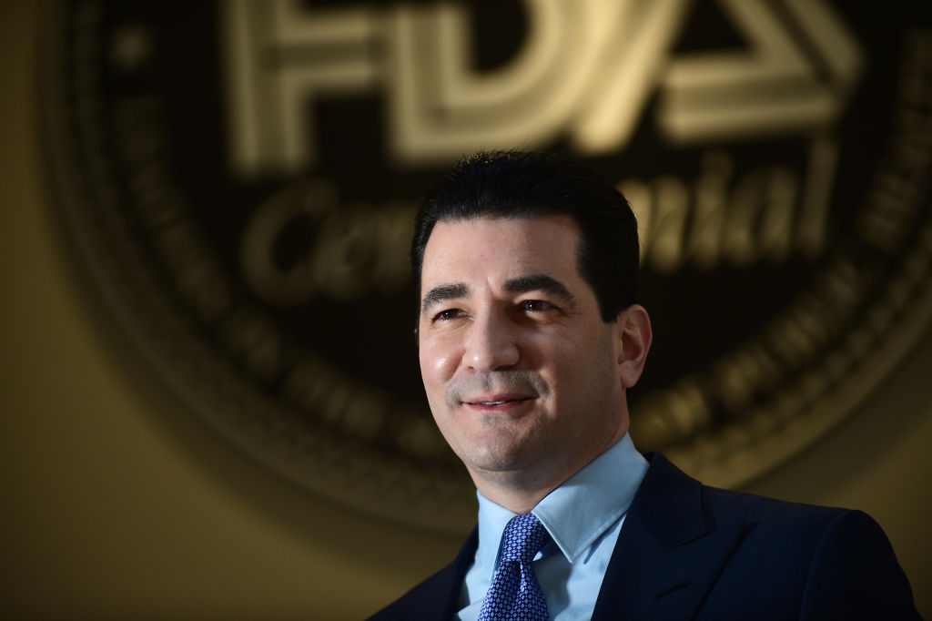 FDA Commissioner Scott Gottlieb at the FDA in White Oak, Md., on November 5, 2018.