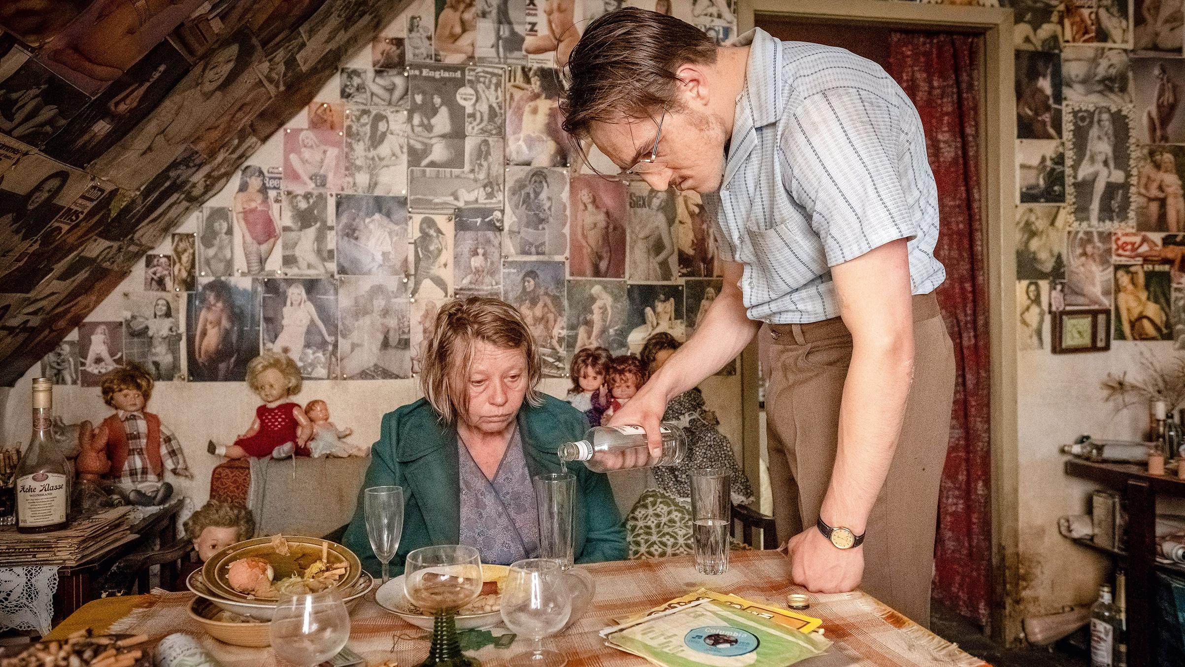 Margarethe Tiesel and Jonas Dassler in a scene from the movie 'The Golden Glove' (Der Goldene Handschuh) by Fatih Akin.
