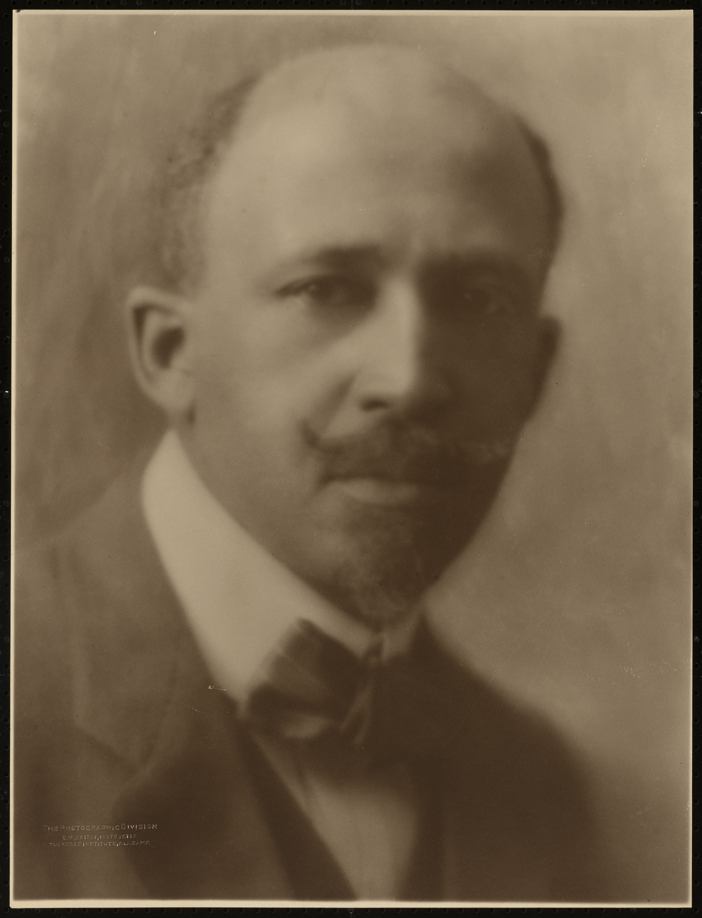 W.E.B. Du Bois portrait by                               Cornelius M. Battey. 1918. Battey worked as the head of the photography division at the Tuskegee Institute of Alabama.