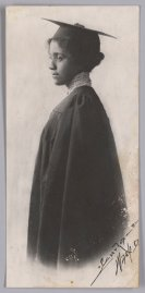 Portrait of a woman in graduation attire
