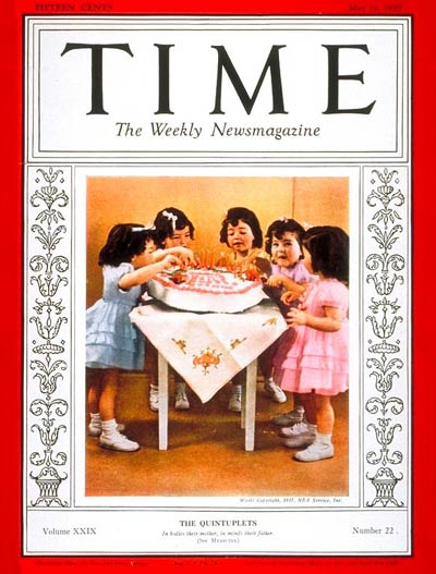The May 31, 1937, cover of TIME