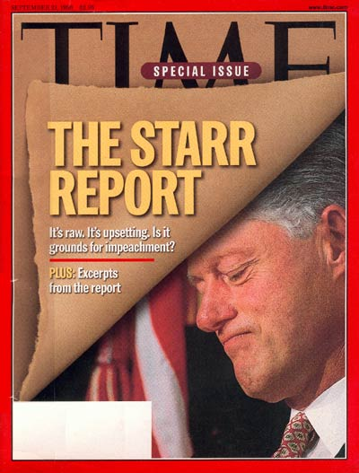 The Sep. 21, 1998, issue of TIME.