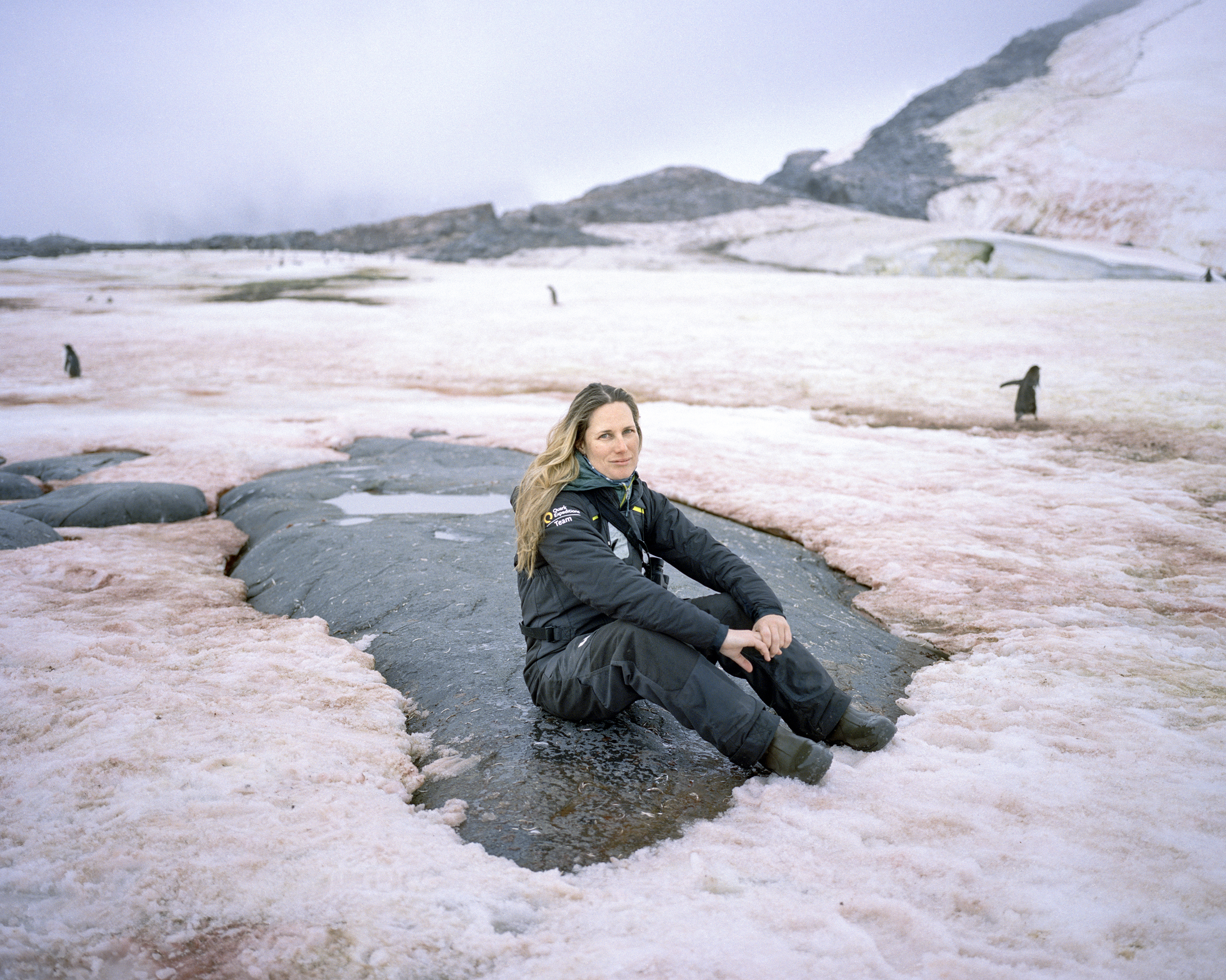 Juanita Volker, a South African expedition guide who has worked there for 9 seasons.