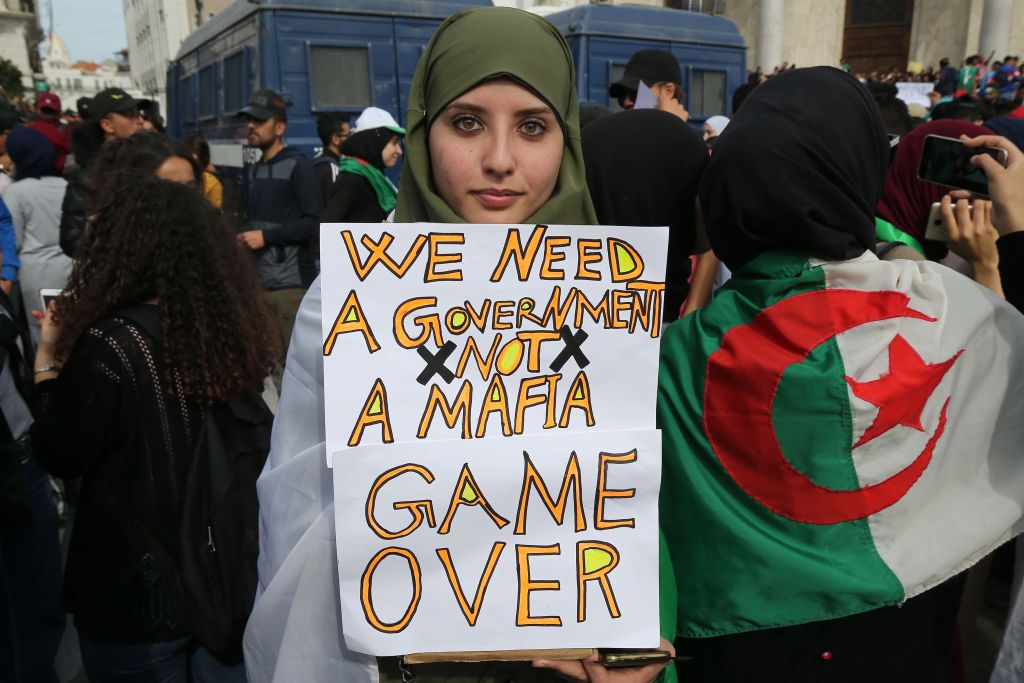 Several thousand students are returning to Algiers in Algeria on March 05, 2019 and in several cities in Algeria against the fifth candidacy of President Abdelaziz Bouteflika.