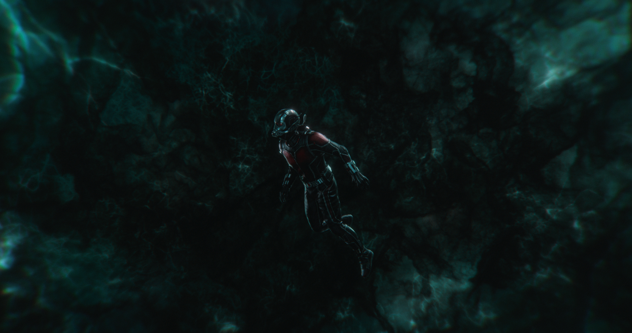 Ant-Man/Scott Lang (Paul Rudd) in the Quantum Realm in Ant-Man and the Wasp