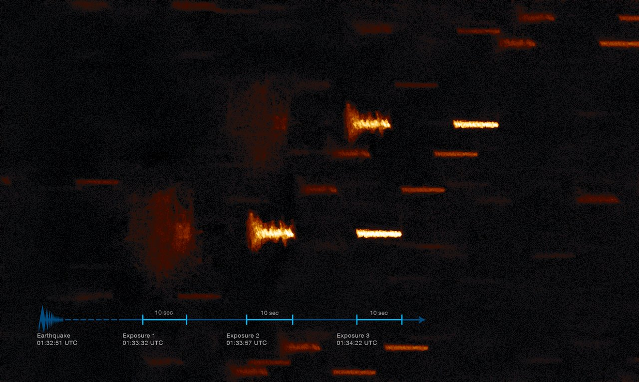 A quaking planet means wobbly pictures