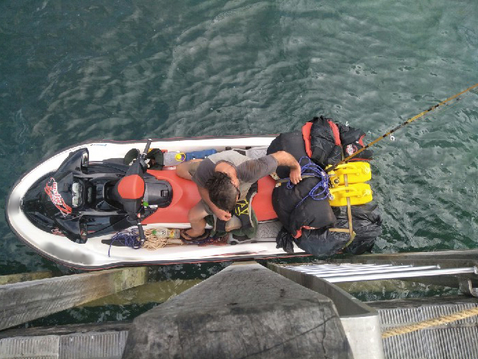 The jet ski of a fugitive apprehended in Torres Strait in this photo obtained on Mar. 27, 2019.