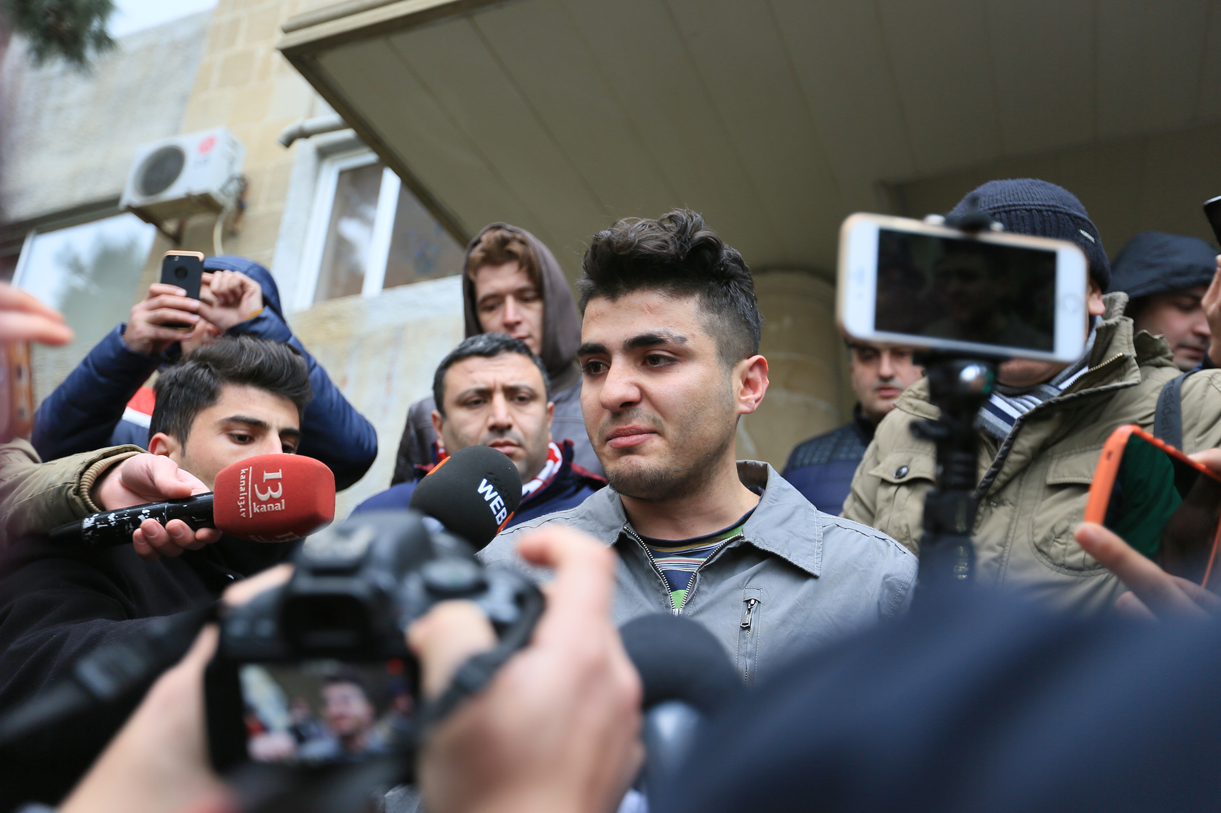 Mehman Huseynov, pictured before his Jan. 2017 trial, is leading a movement for press freedom in the former Soviet Republic