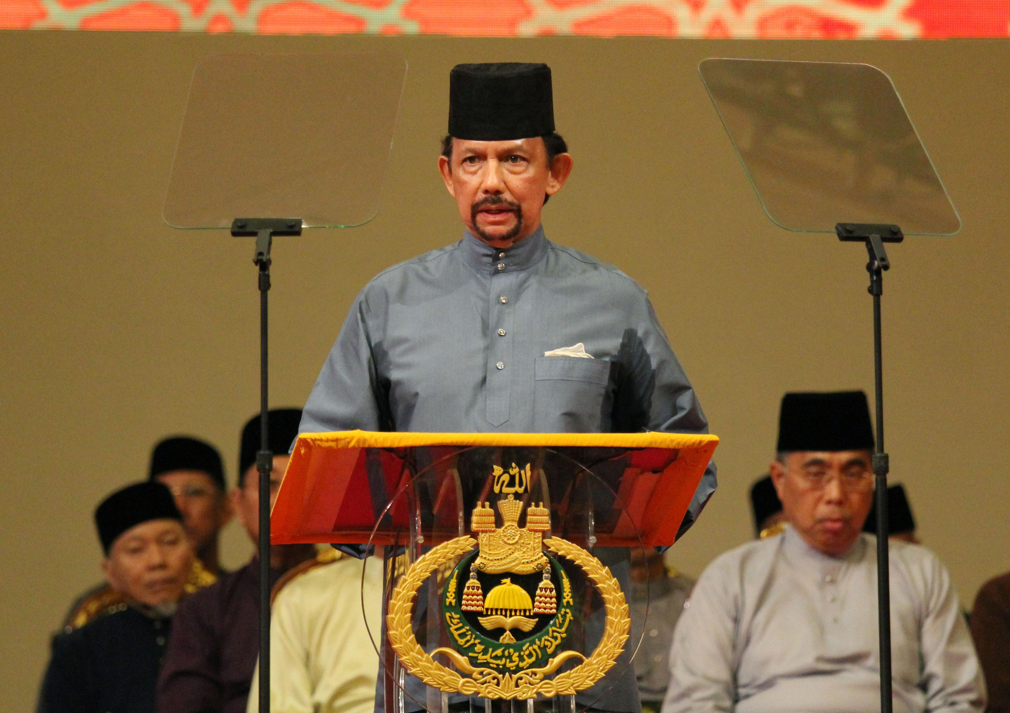 Brunei Sultan Hassanal Bolkiah announces the introduction of the sharia law penal code to the Southeast Asia country in its capital of Bandar Seri Begawan on Apr. 30, 2014.