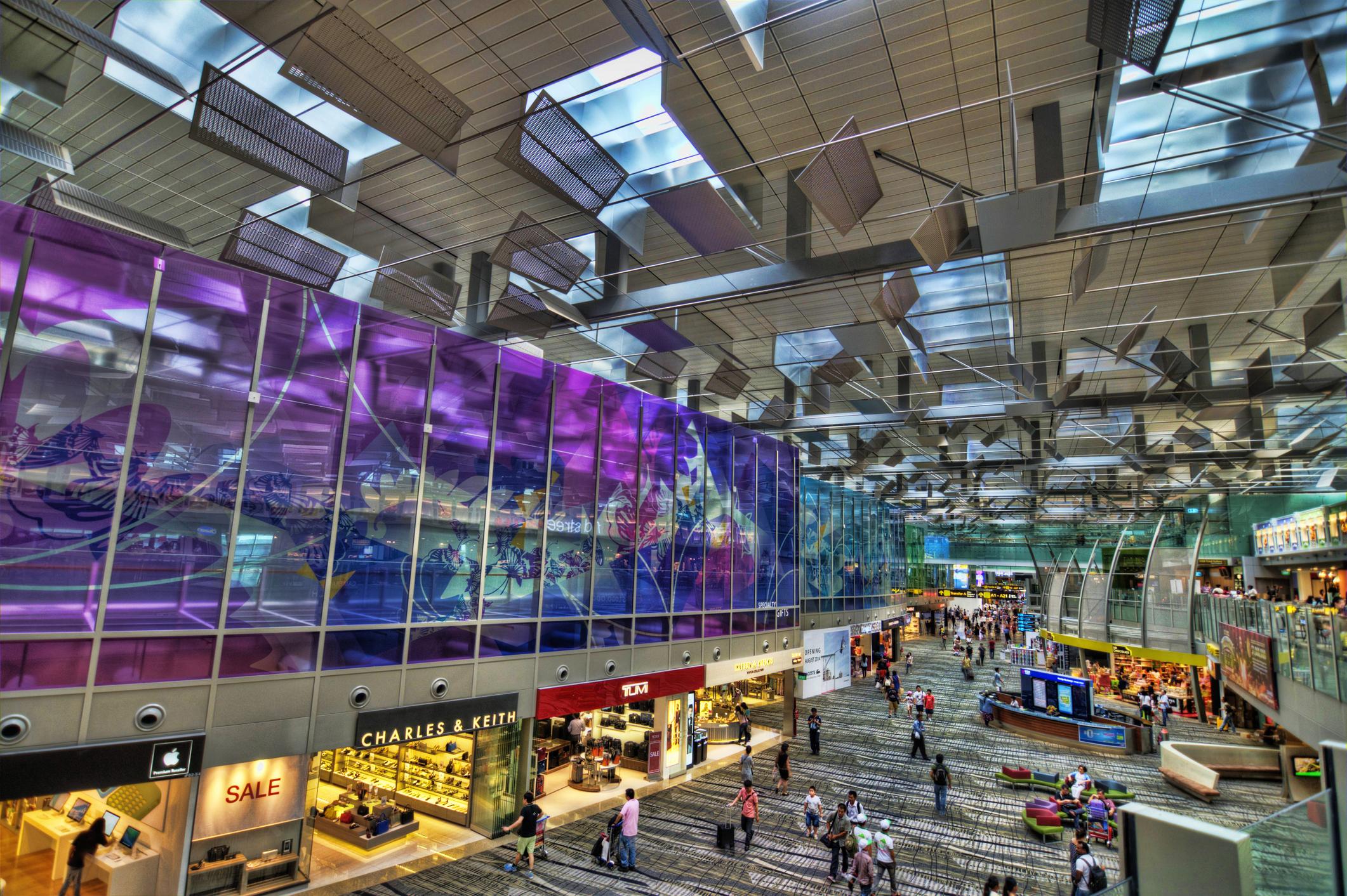 Terminal 3 at the Changi Airport, Singapore.