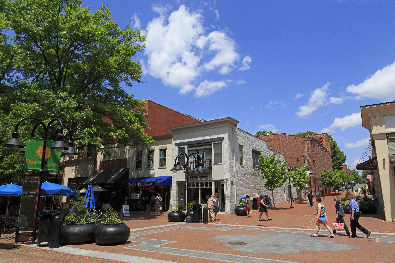 Historic Downtown Mall, Charlottesville, Virginia, U.S.