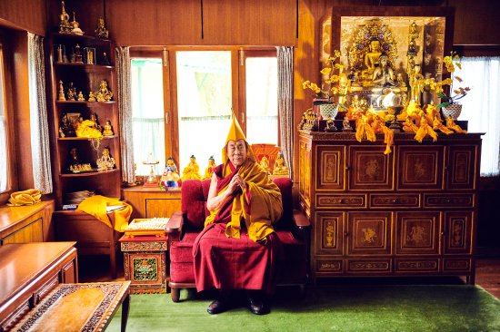 The Dalai Lama in Dharamsala in February.