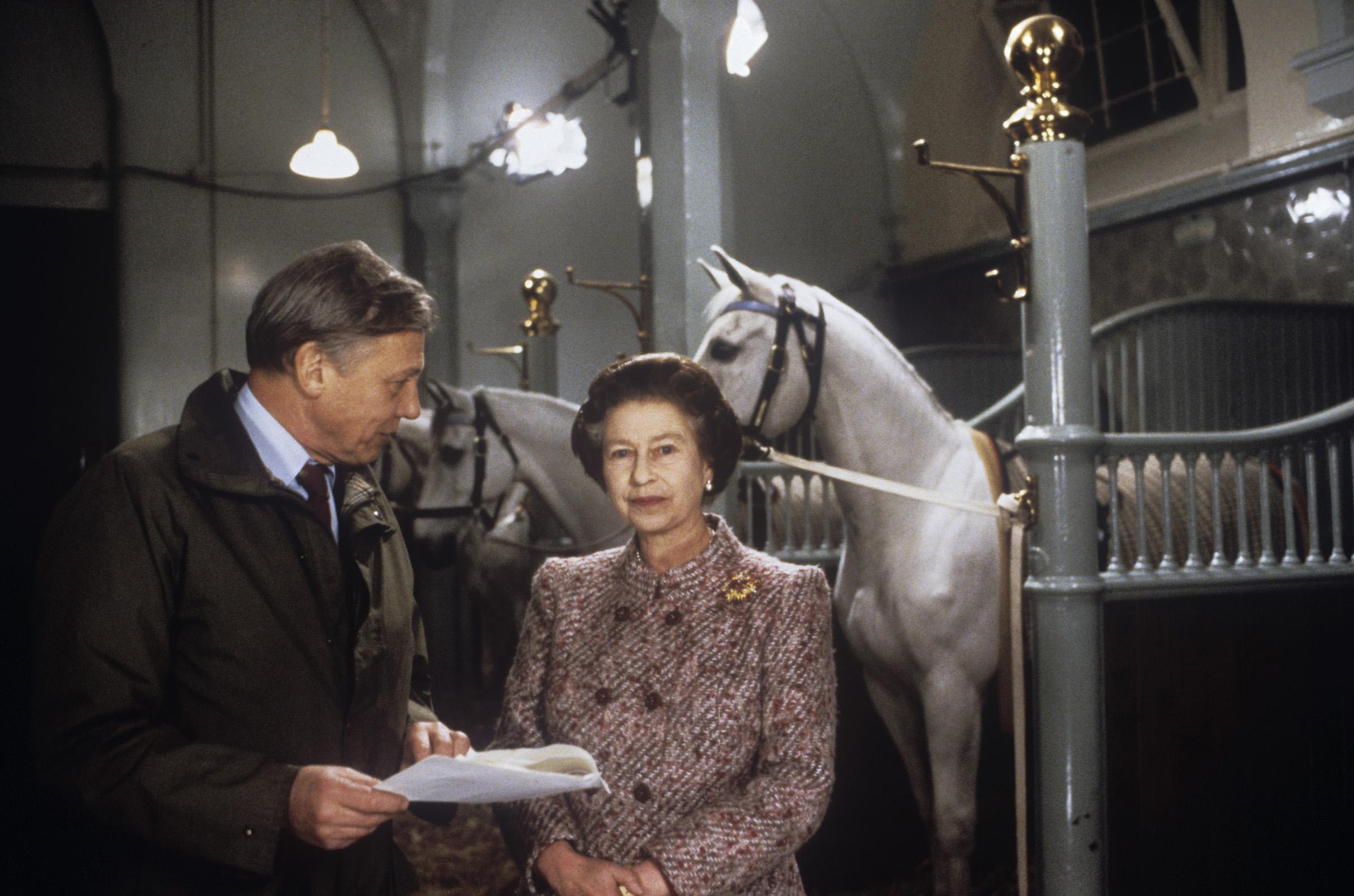 Attenborough with Queen Elizabeth II