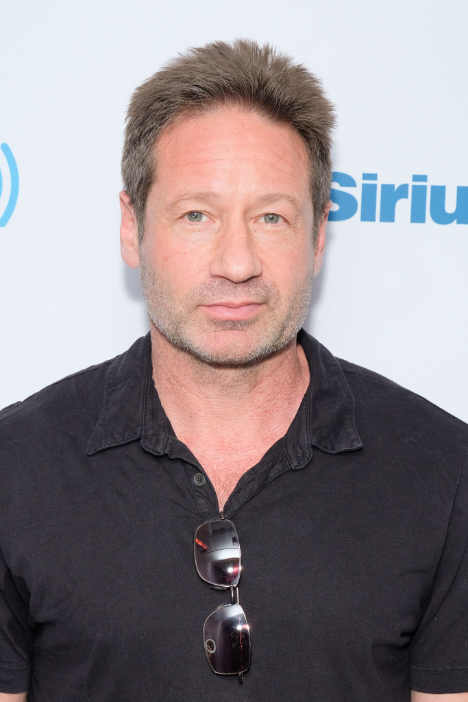 Actor David Duchovny visits SiriusXM Studios on May 14, 2018 in New York City.