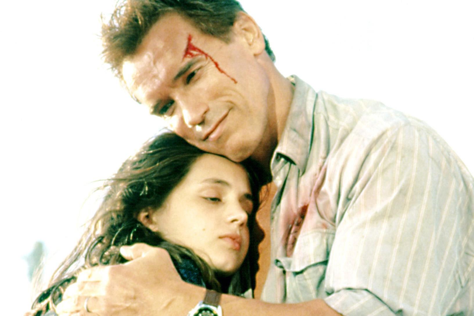Eliza Dushku and Arnold Schwarzenegger in 'True Lies' 1994