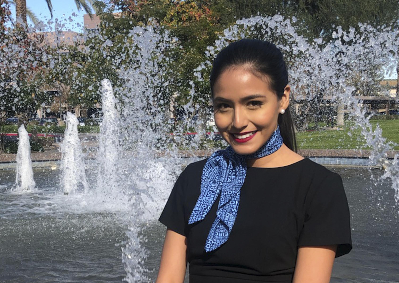 Selene Saavedra Roman, shown here in 2018