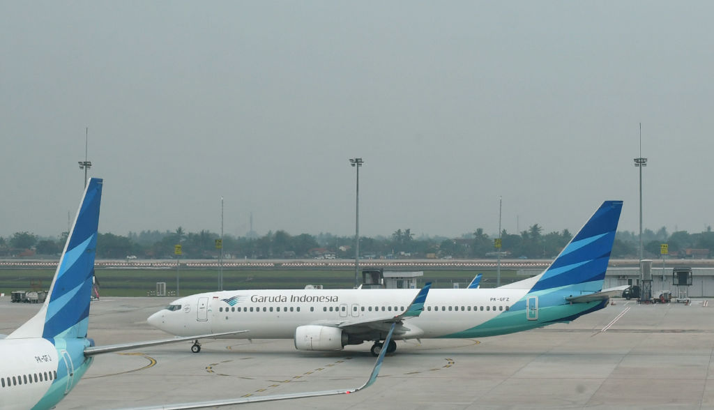 A Boeing 737 Next Gen passenger jet being used by Indonesia's national airline Garuda on Nov. 3, 2019 at Jakarta's international airport in Tangerang. Garuda Indonesia wants to cancel its order for 49 Boeing 737 Max 8 jets after the airline lost confidence in the model after two crashes on March 14, 2019.