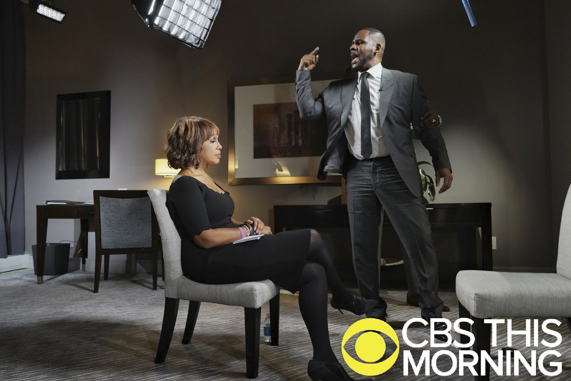 King with her most recent newsmaking interview subject, R. Kelly in  Chicago