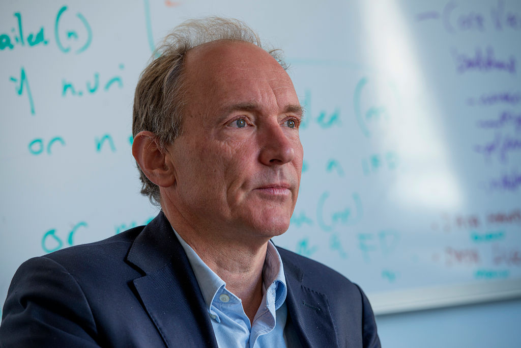 Sir Tim Berners-Lee, Director of the World Wide Web Consortium, photographed in his office on October 21, 2013.