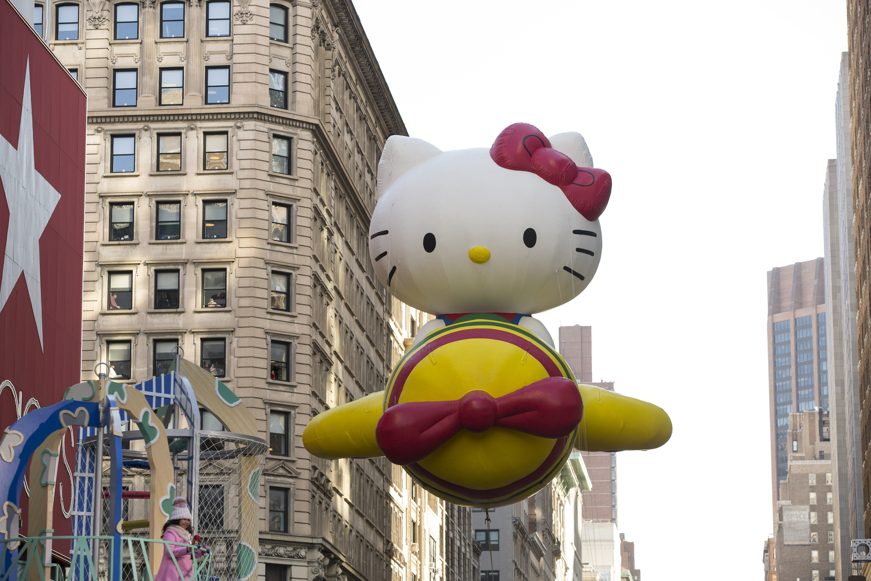 Hello Kitty balloon at the 91st annual Macy's Thanksgiving Day Parade in New York City on Nov. 23 2017.
