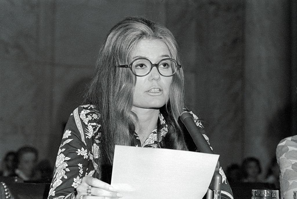 Gloria Steinem testifies before Congress on May 6, 1970.
